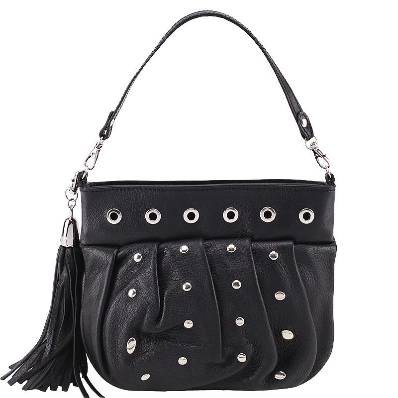 Женская сумка, глянец, черная, Marina Creazioni, Италия.