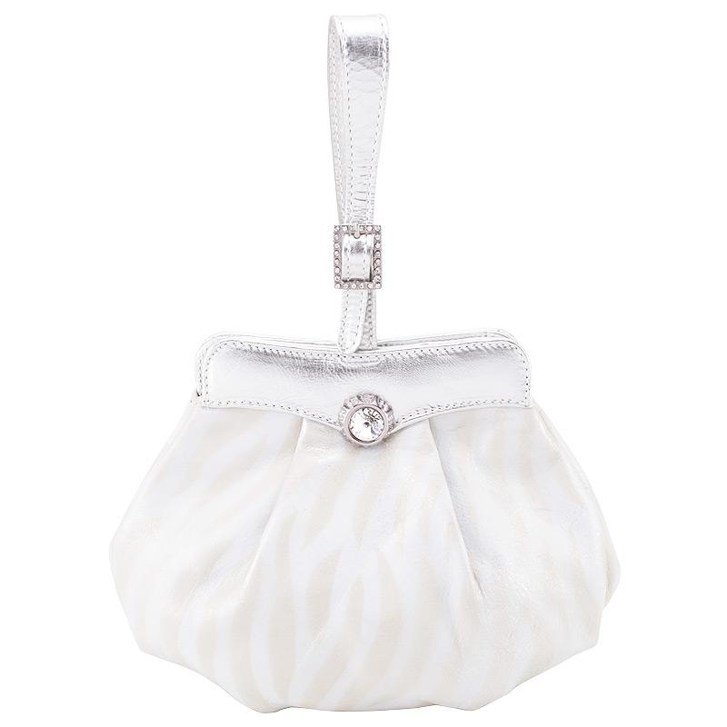 Женская сумка, серебряная, Marina Creazioni, Италия.