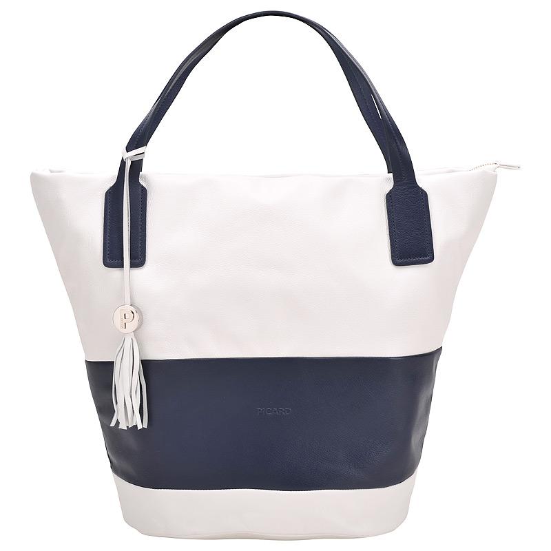 Женская сумка, синяя с белым, Picard, Германия.