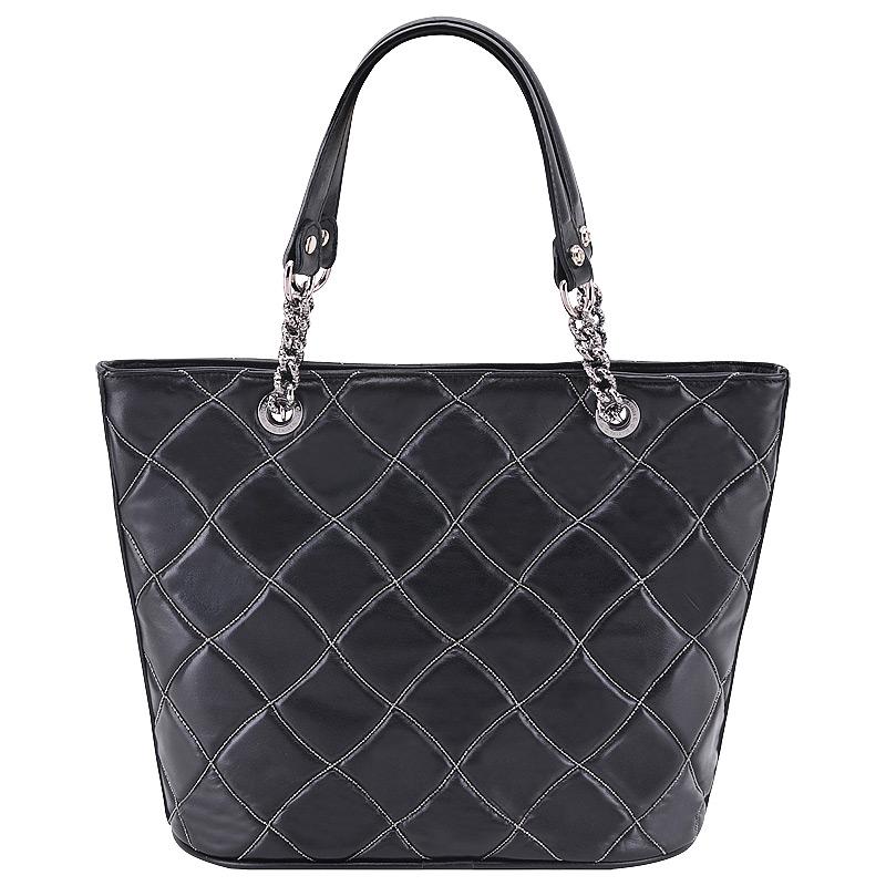 Женская сумка,стеганная, черная, Marina Creazioni, Италия.