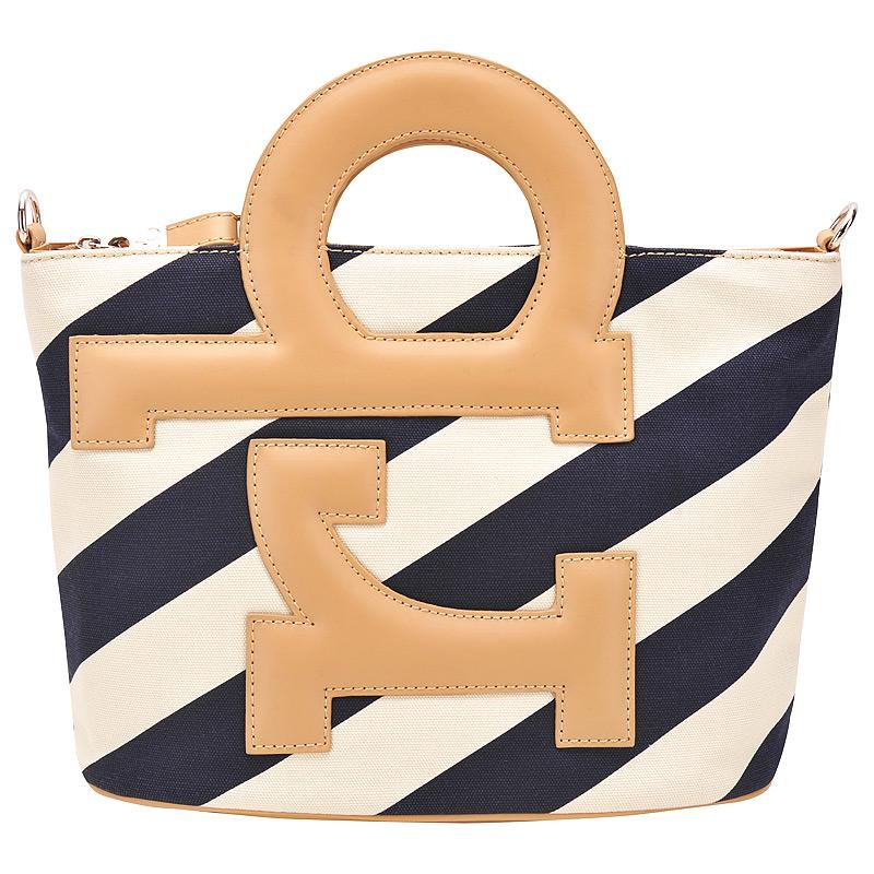 Женская сумка, экокожа, бело - синяя, RB, Италия.