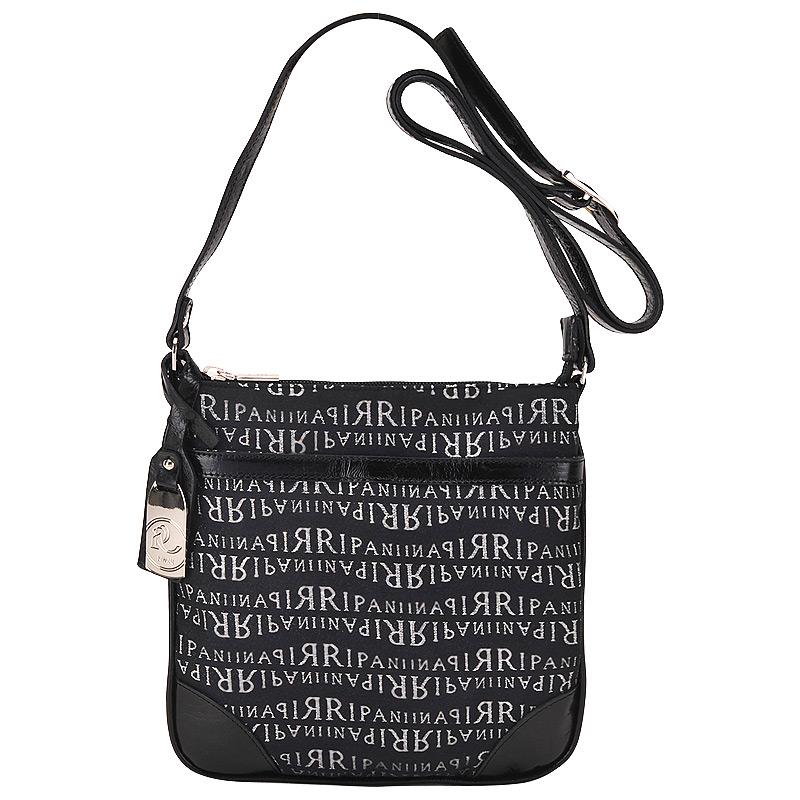 Женская сумка, лого, черная, Ripani, Италия.