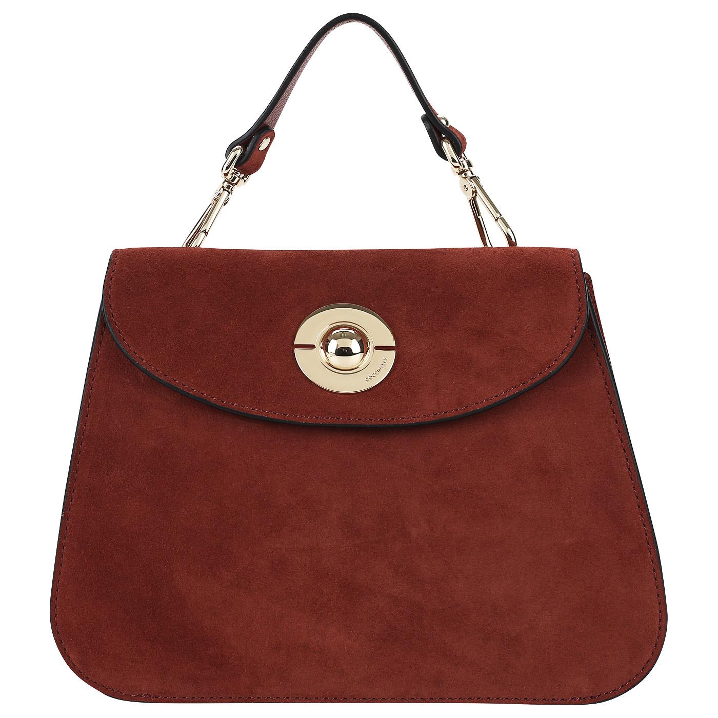 417611468277 Замшевая сумочка со съемной ручкой Coccinelle Jalouse suede CB1 55 ...