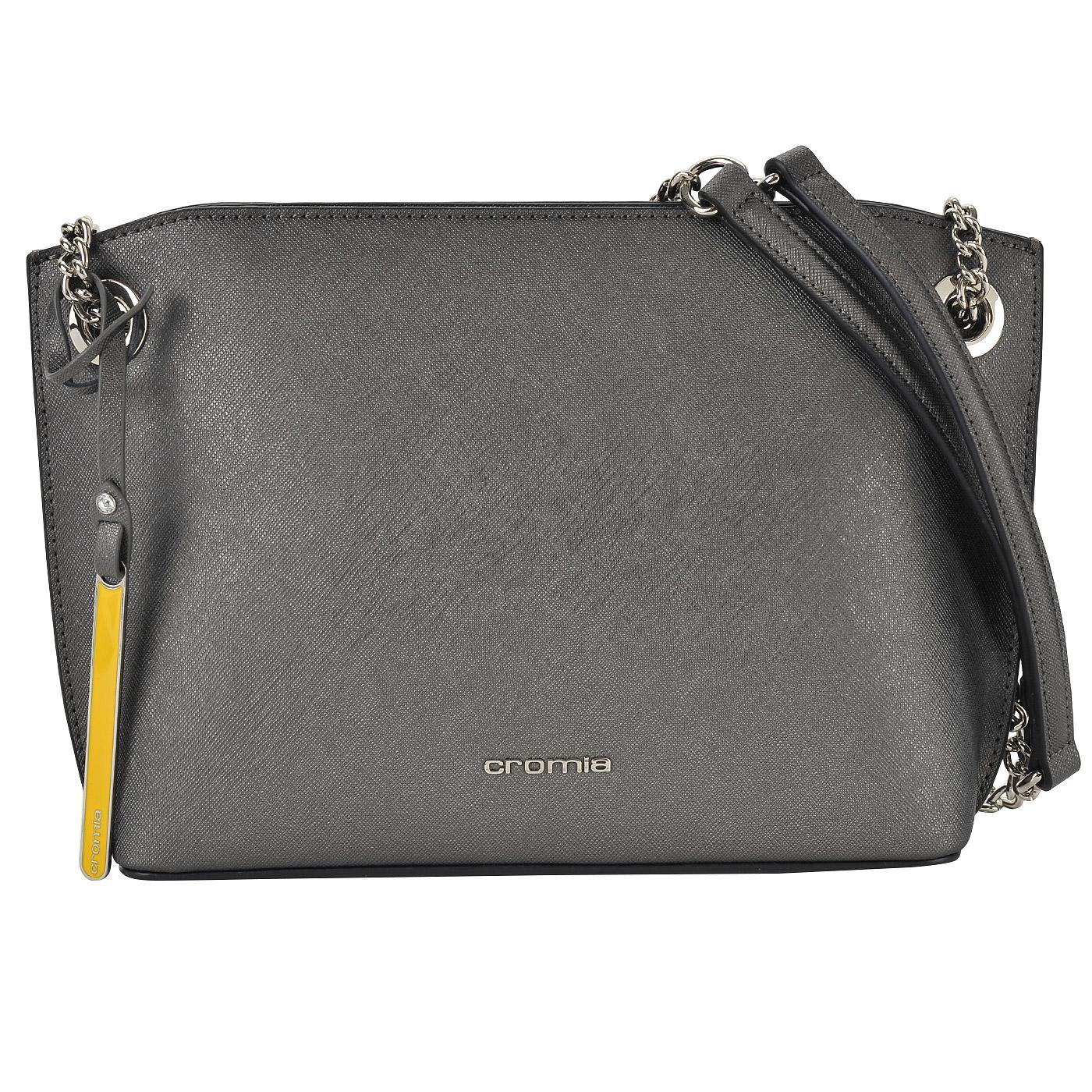 Женская кожаная сумочка на цепочке через плечо Cromia Perla ... dc328517244
