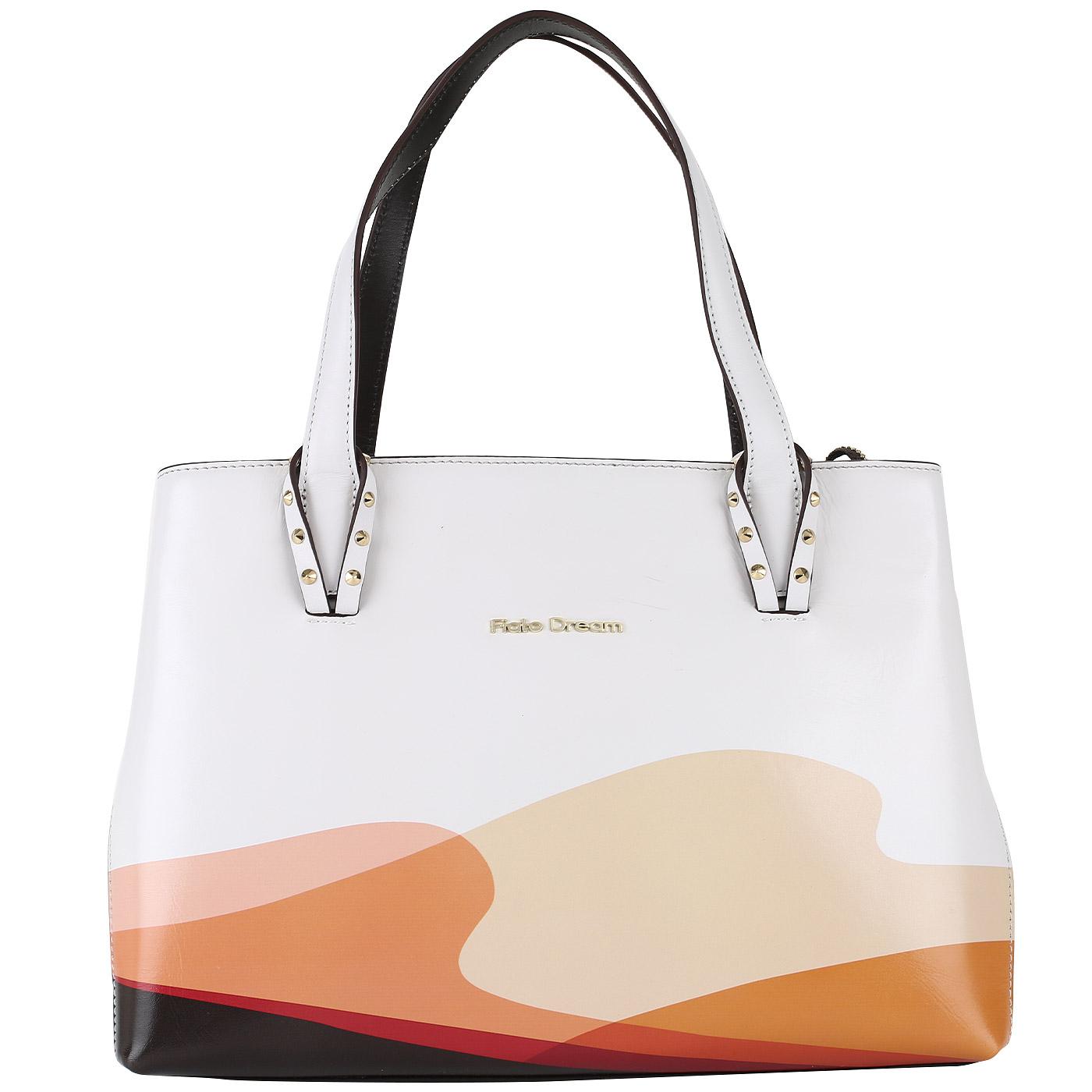 04be496343f2 Женская кожаная сумка с двумя отделениями Fiato Dream 1026 FD ...
