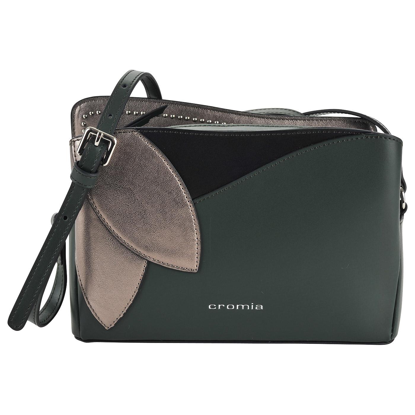 9bd894b03060 Маленькая кожаная сумка через плечо Cromia Rose 1403451 verdone ...