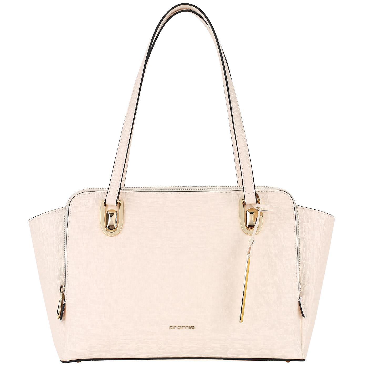 f7c6ca9ddcff Женская сумка с тремя отделами на молнии Cromia Mina 1403630_beige ...