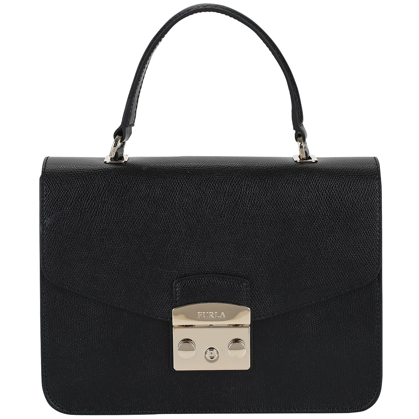 05ab976fb477 ... Маленькая женская сумка из натуральной кожи Furla Metropolis ...