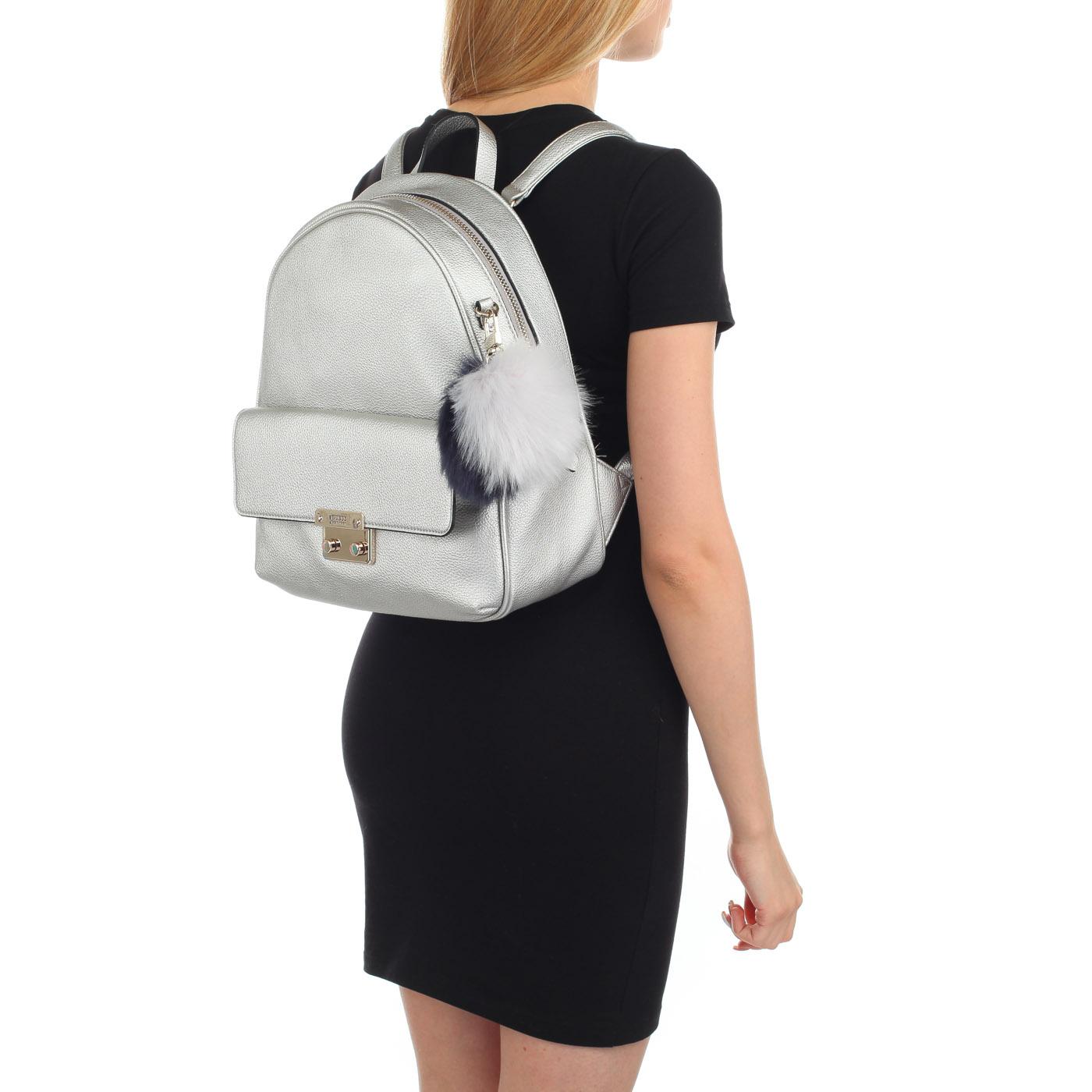 1476a37b30ef Женский рюкзак с брелоком Guess Varsity Pop HWMG69 67320_silver ...