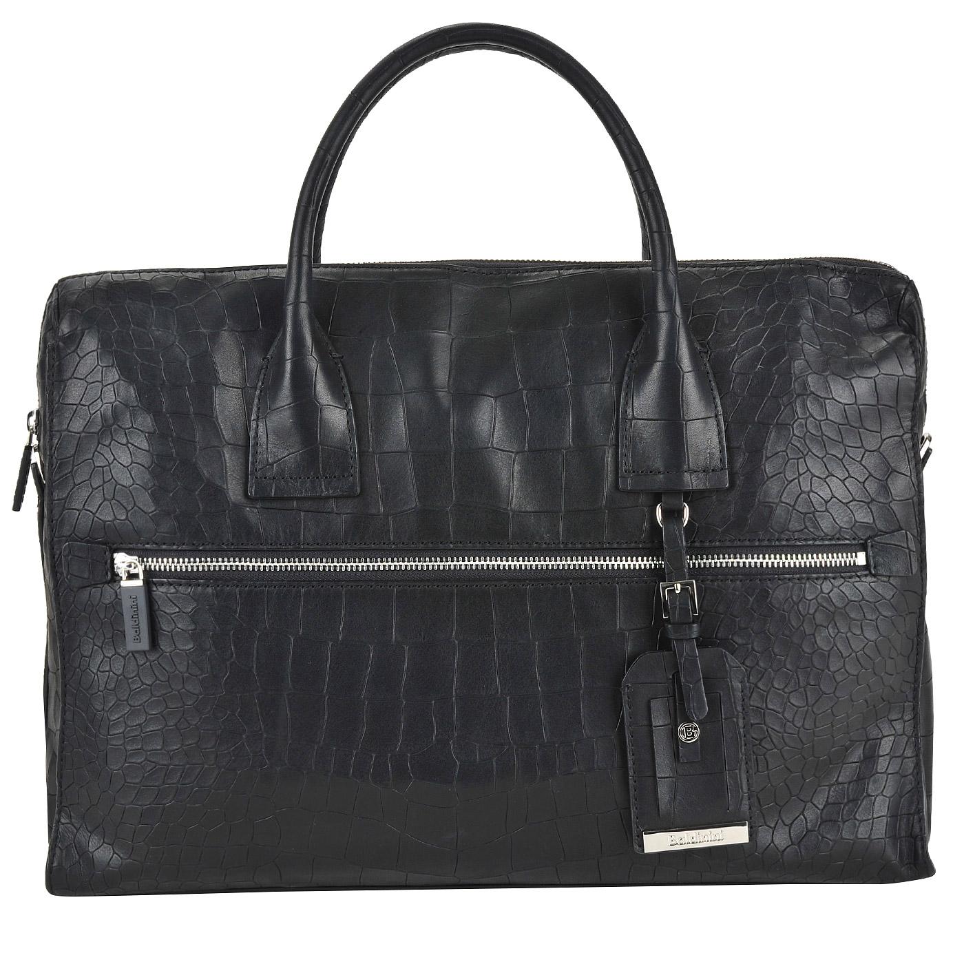 7beadf03c4fb ... Вместительная мужская деловая сумка с выделкой под кожу крокодила  Baldinini Ivan ...