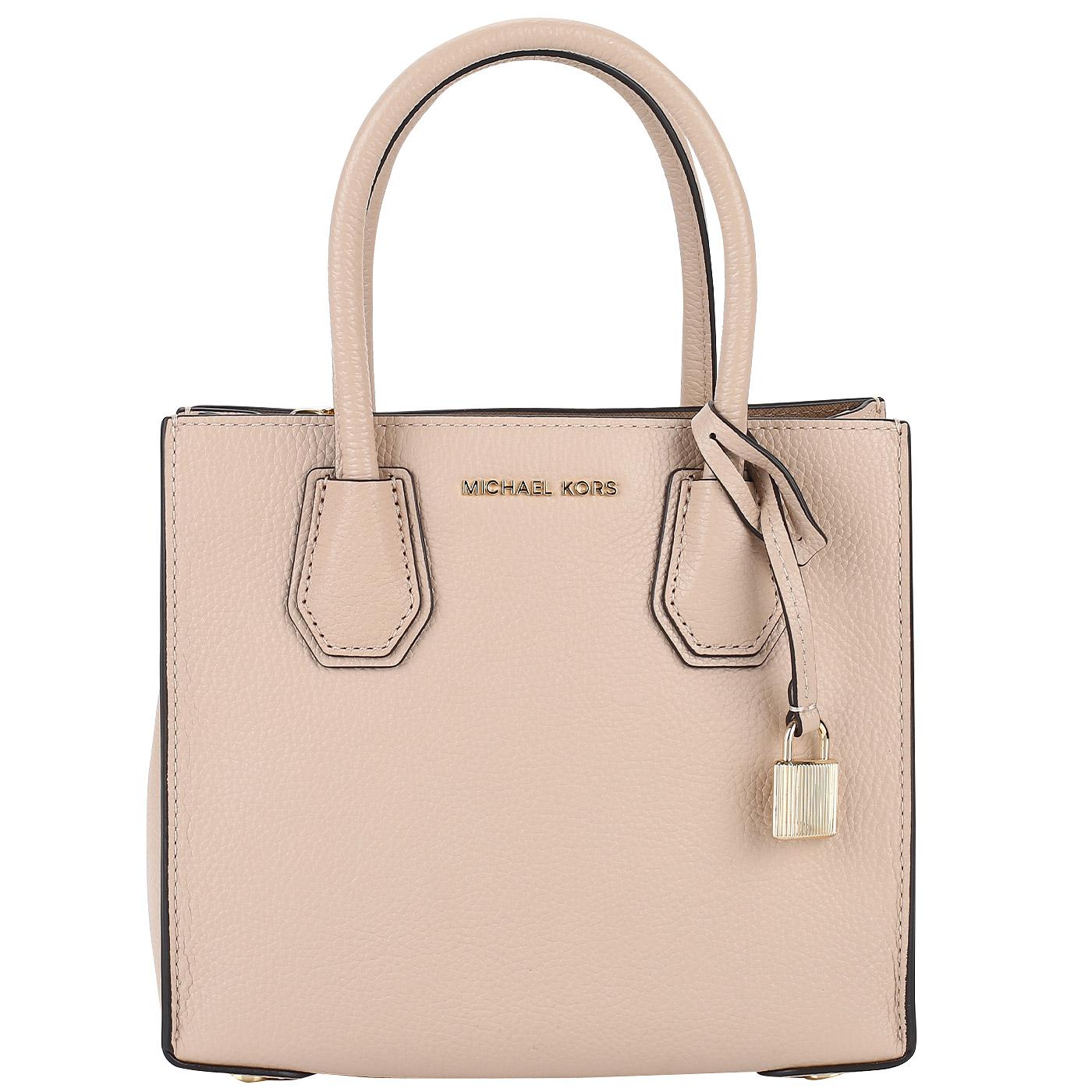 82f44ab19e78 ... Женская сумка из бежевой натуральной кожи Michael Kors Mercer ...