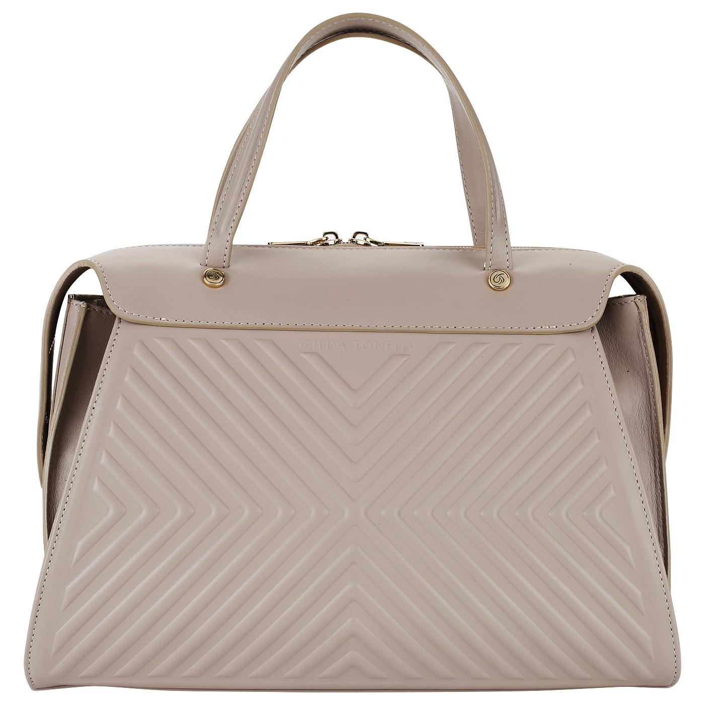 2213afa2d754 Женская сумка из натуральной кожи со съемным ремешком Gilda Tonelli Tresor