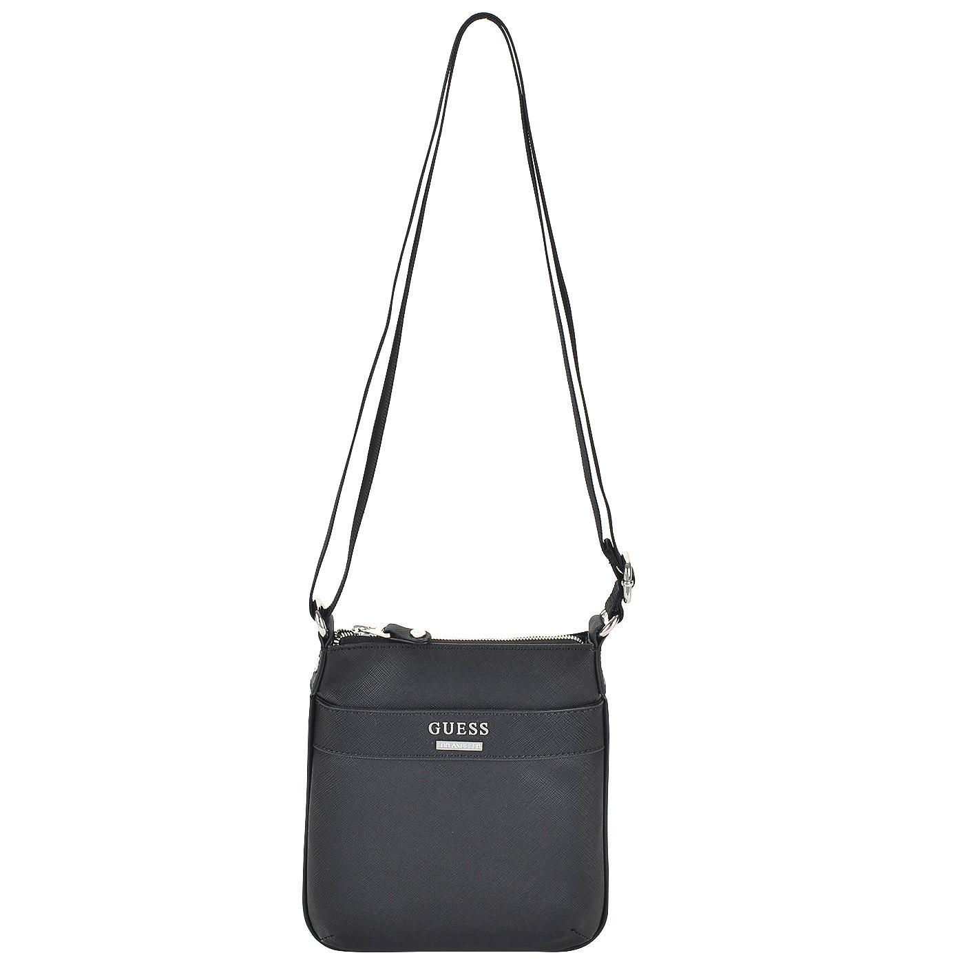 171caa6a7a34 Мужская черная сумка через плечо Guess Uptown HM3049 POL72_black ...