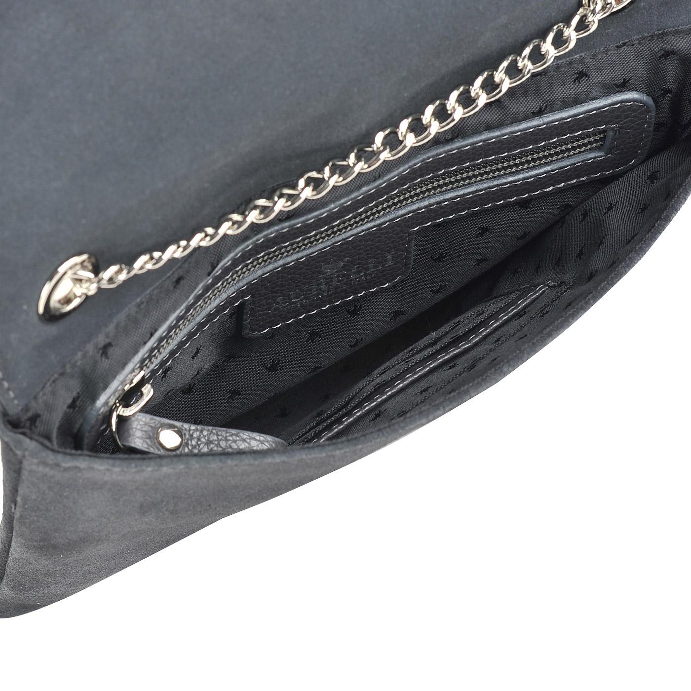 3bd8cade5 Женская замшевая сумка на цепочке через плечо Aurelli 17W0071-10S ...