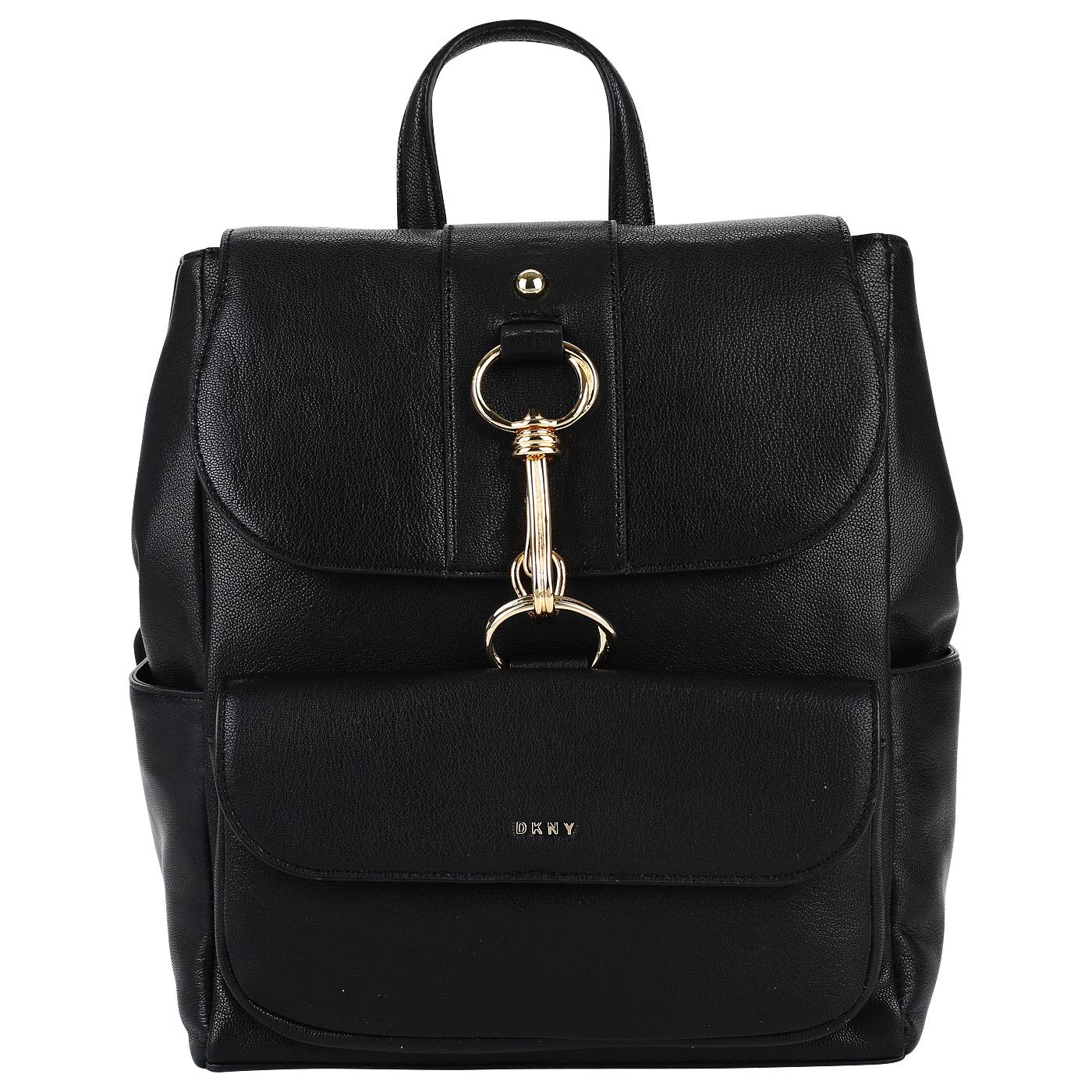 66017f7216fc Кожаный рюкзак DKNY Randall R81KC431-BLK - 2000557874657 черный ...