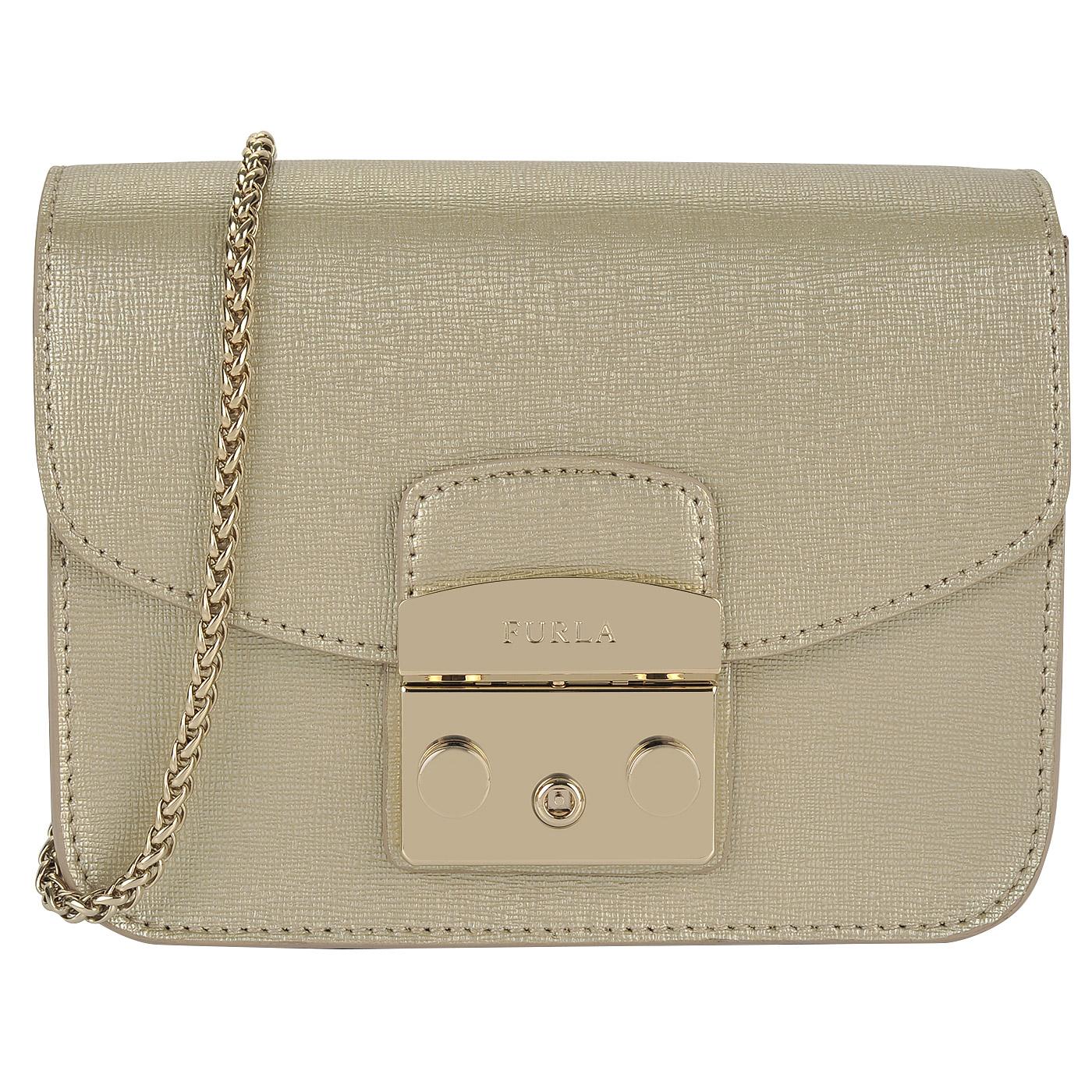 Женская кожаная сумочка на цепочке через плечо Furla Metropolis ... 8a5b44071eda1