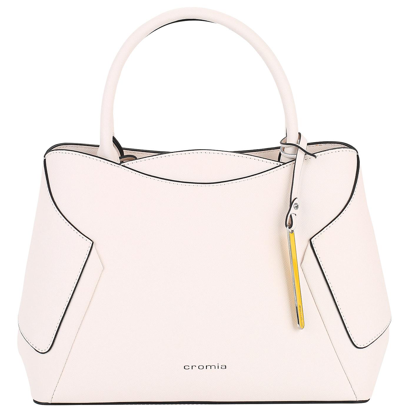 e7c9a15dfc39 Женская сумка из натурального сафьяна Cromia Wisper 1403729_beige ...