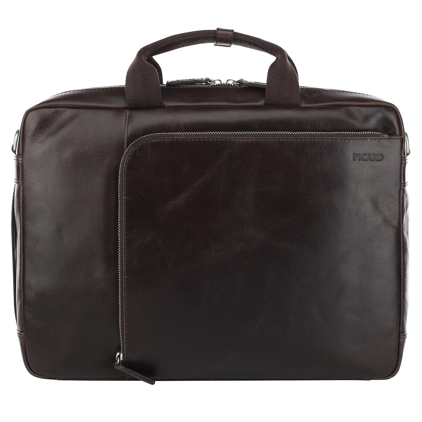 ade147fb89cd Кожаная мужская сумка-рюкзак Picard Buddy 4505 51B_cafe ...