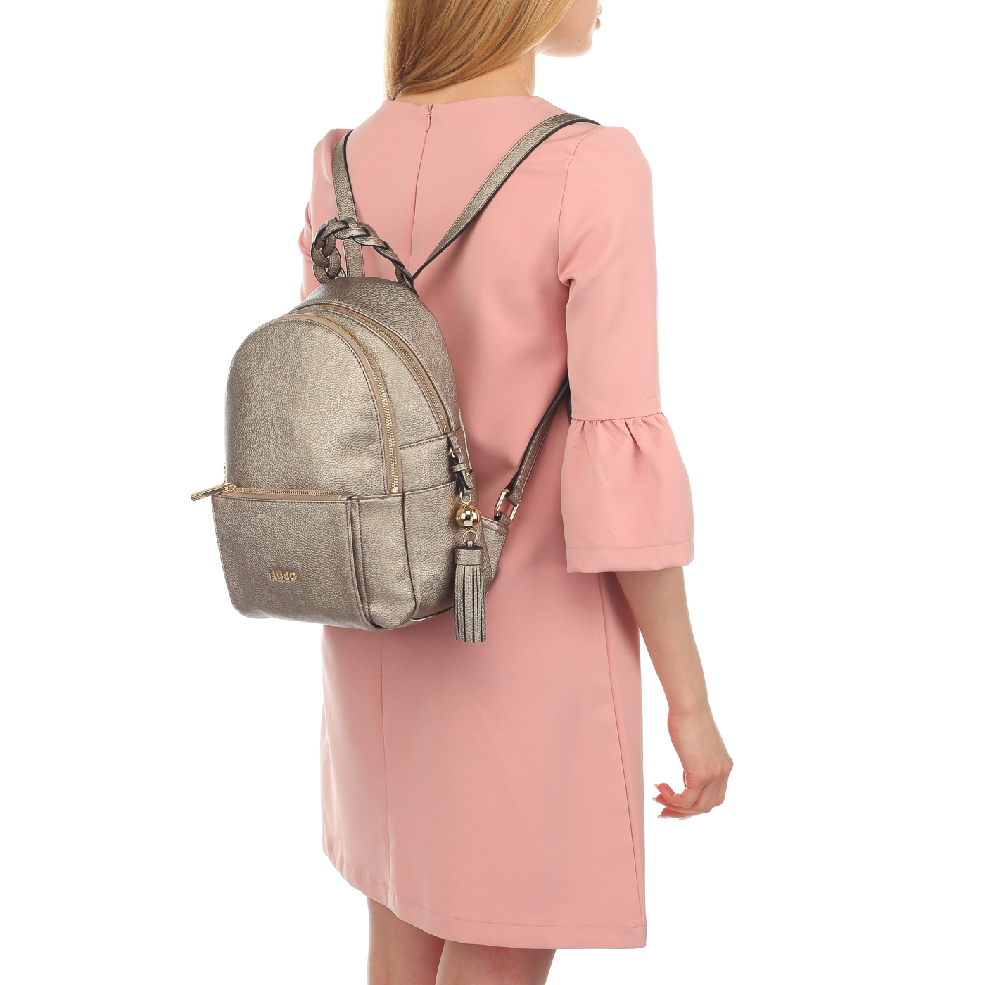 6d540dc19369 Женский металлизированный рюкзак Liu Jo Arizona Женский металлизированный рюкзак  Liu Jo Arizona ...
