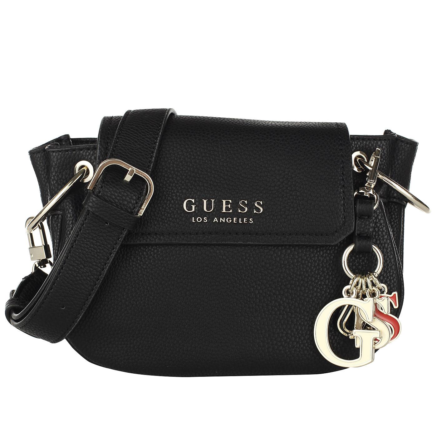 58177dc3009d Маленькая черная сумочка Guess Sally Маленькая черная сумочка Guess Sally  ...