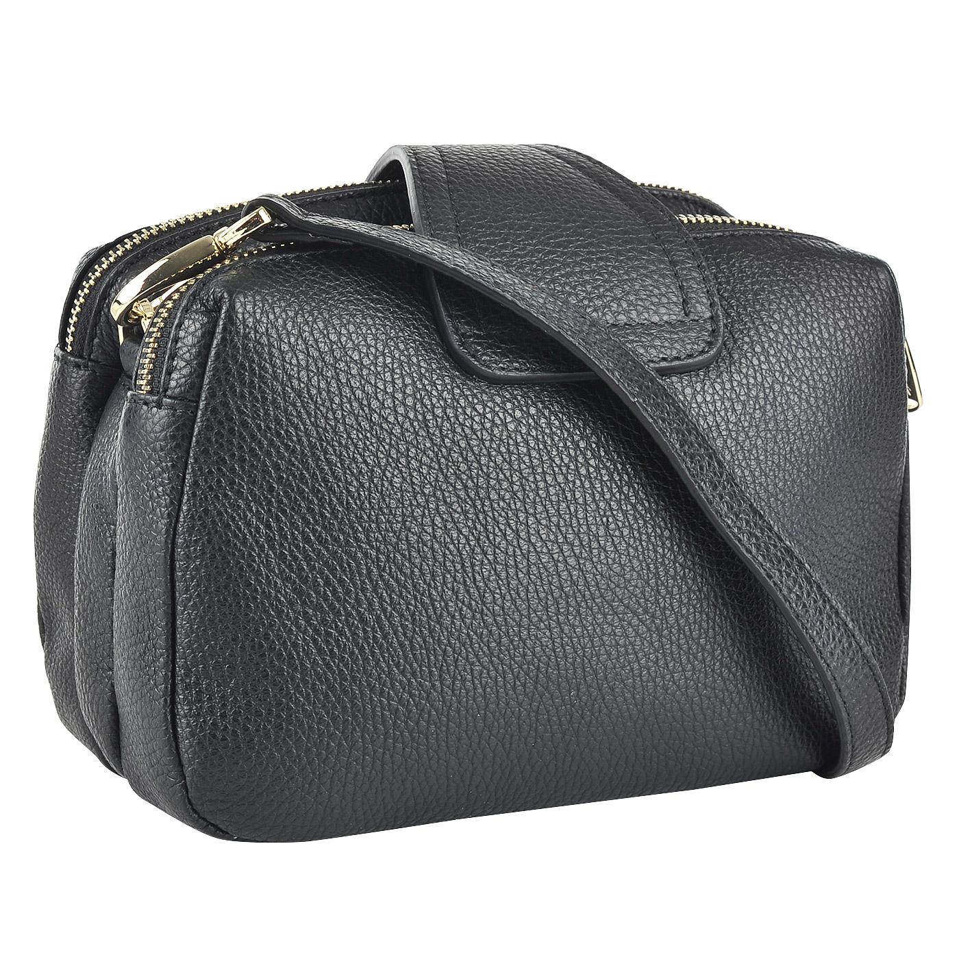aec7ad5750ca Кожаная сумка через плечо с тремя отделениями Fiato 2825 ...