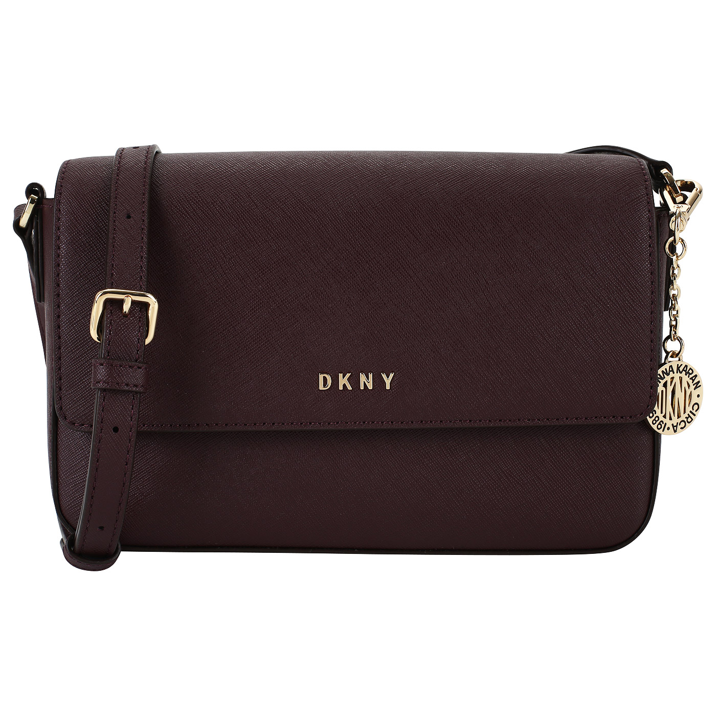 b7ee6ef1ad5c Сафьяновая сумочка с откидным клапаном DKNY Bryant R82E1467-CDV ...