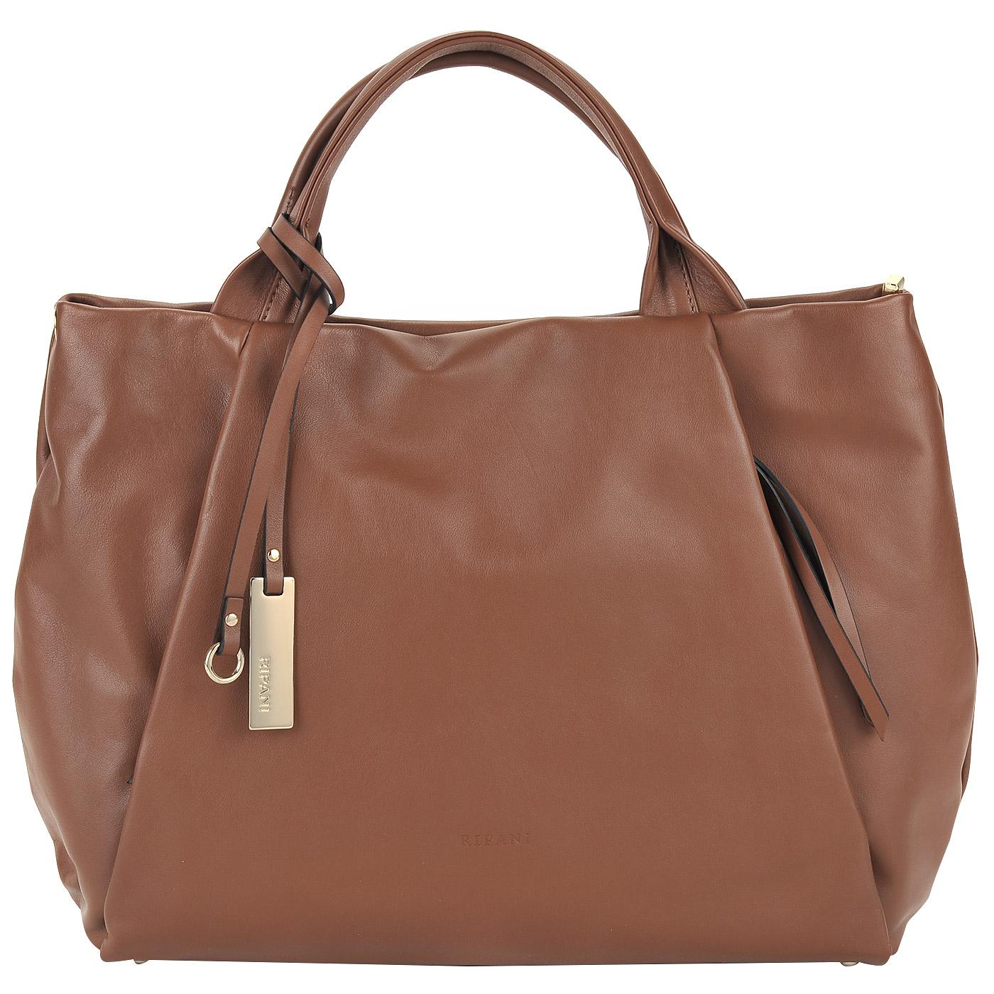 9b9d62297f3a Вместительная женская сумка из натуральной кожи Ripani Lime 7831LL ...