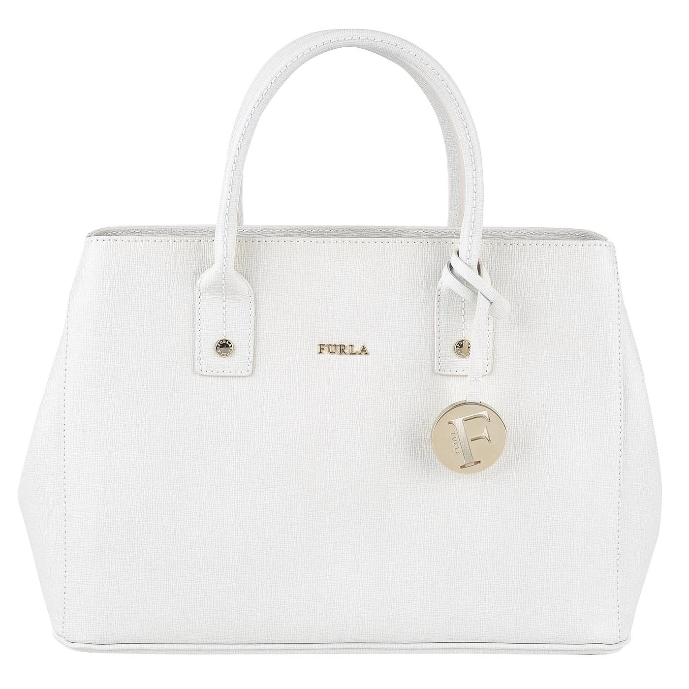 741ca5410ff6 Женская кожаная сумка Furla Linda BDR5_petalo - 2000557707870 белый ...