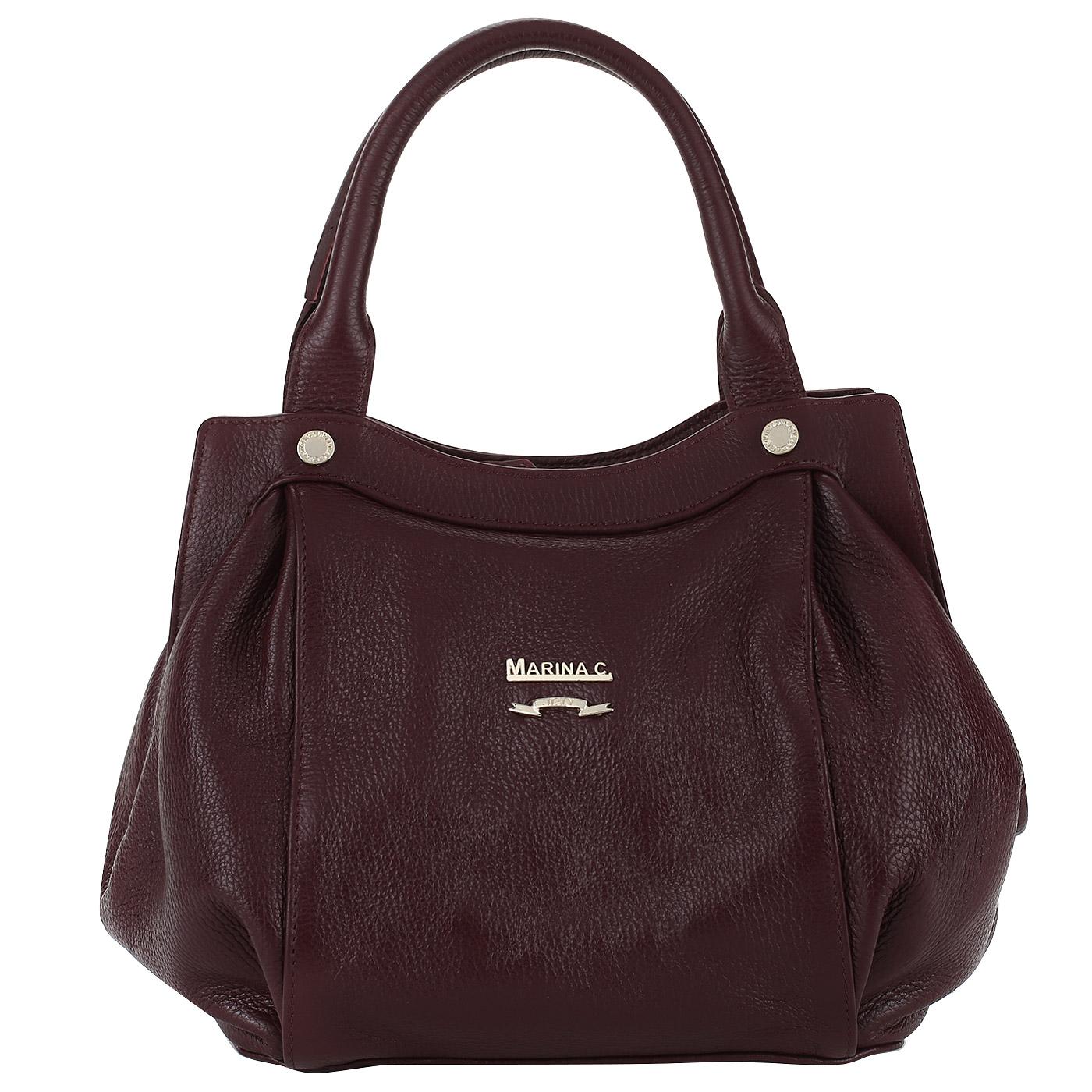 d02670a9f4be Бордовая кожаная сумка Marina Creazioni Бордовая кожаная сумка Marina  Creazioni ...