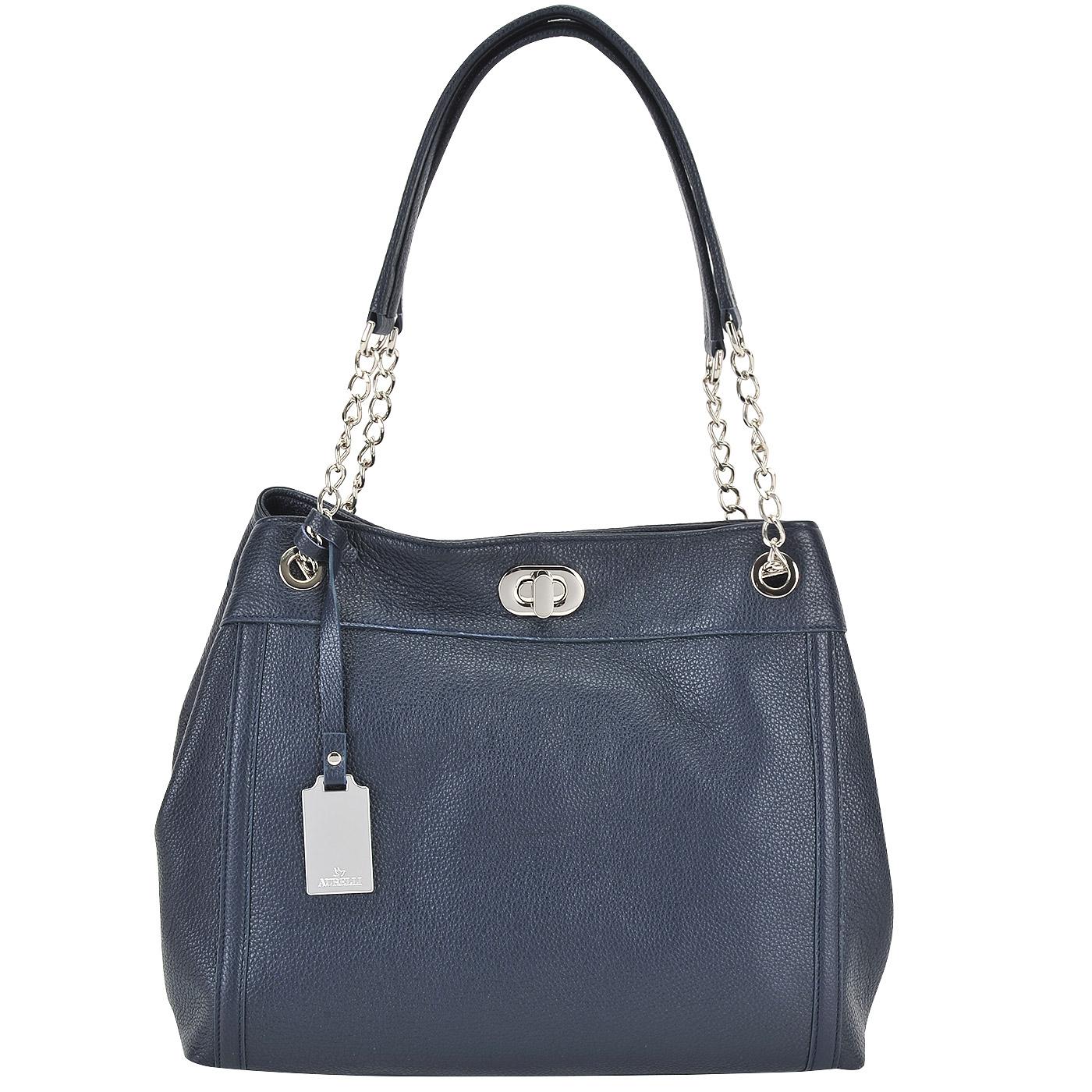 Синяя женская сумка из натуральной кожи Aurelli 16W0045-24S-blu ... b9914ead5f9