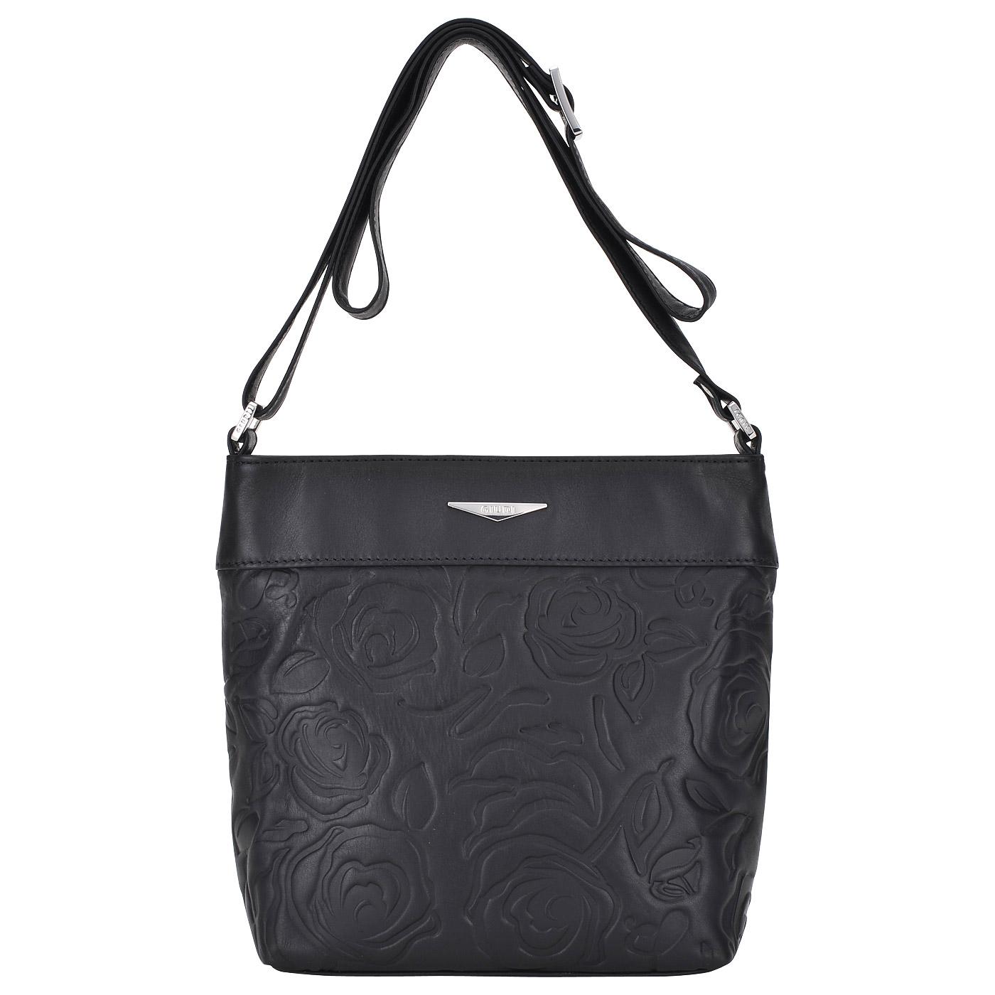 Женская кожаная сумка через плечо Giudi