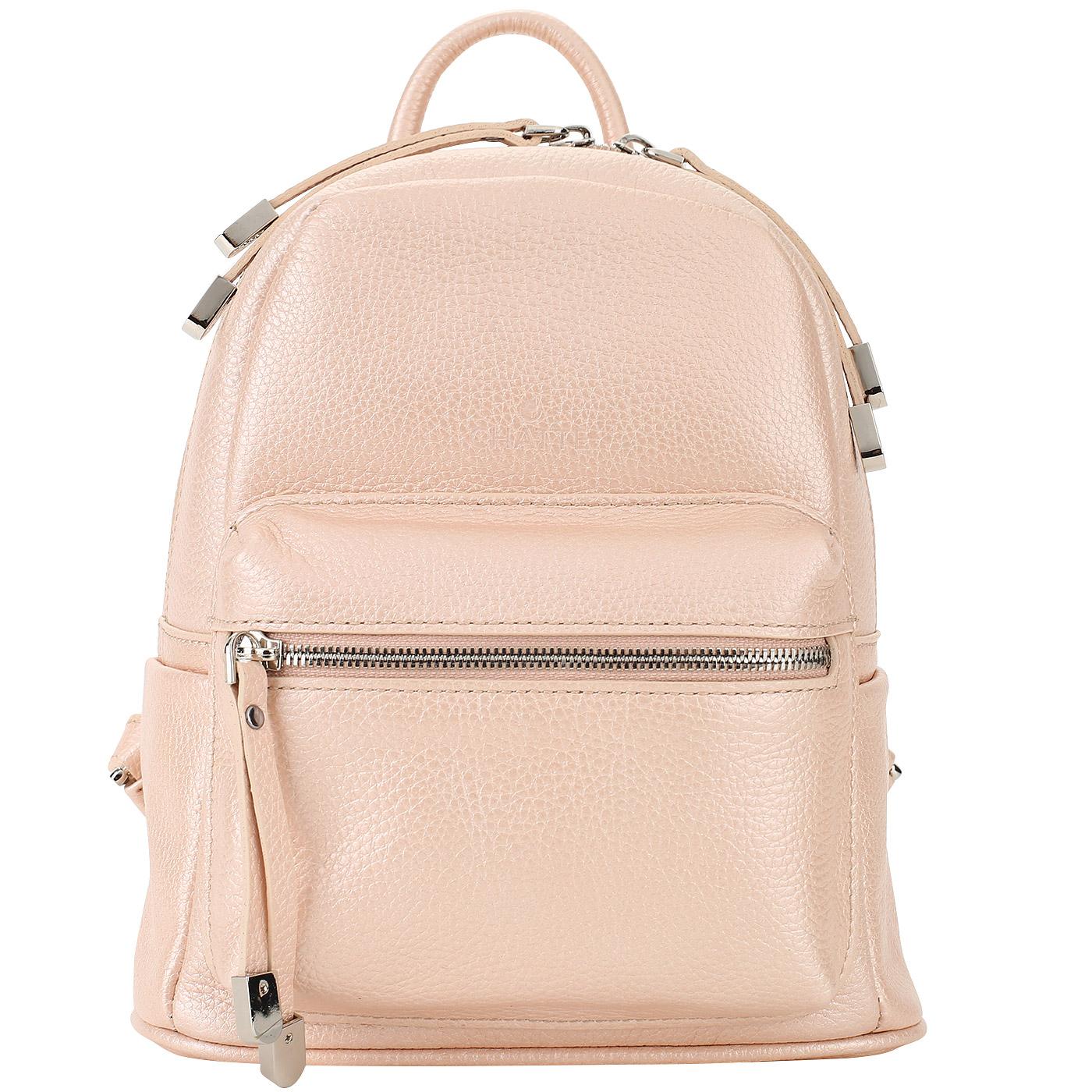 080ec17cabb1 Женский рюкзак из металлизированной кожи Chatte Женский рюкзак из  металлизированной кожи Chatte ...