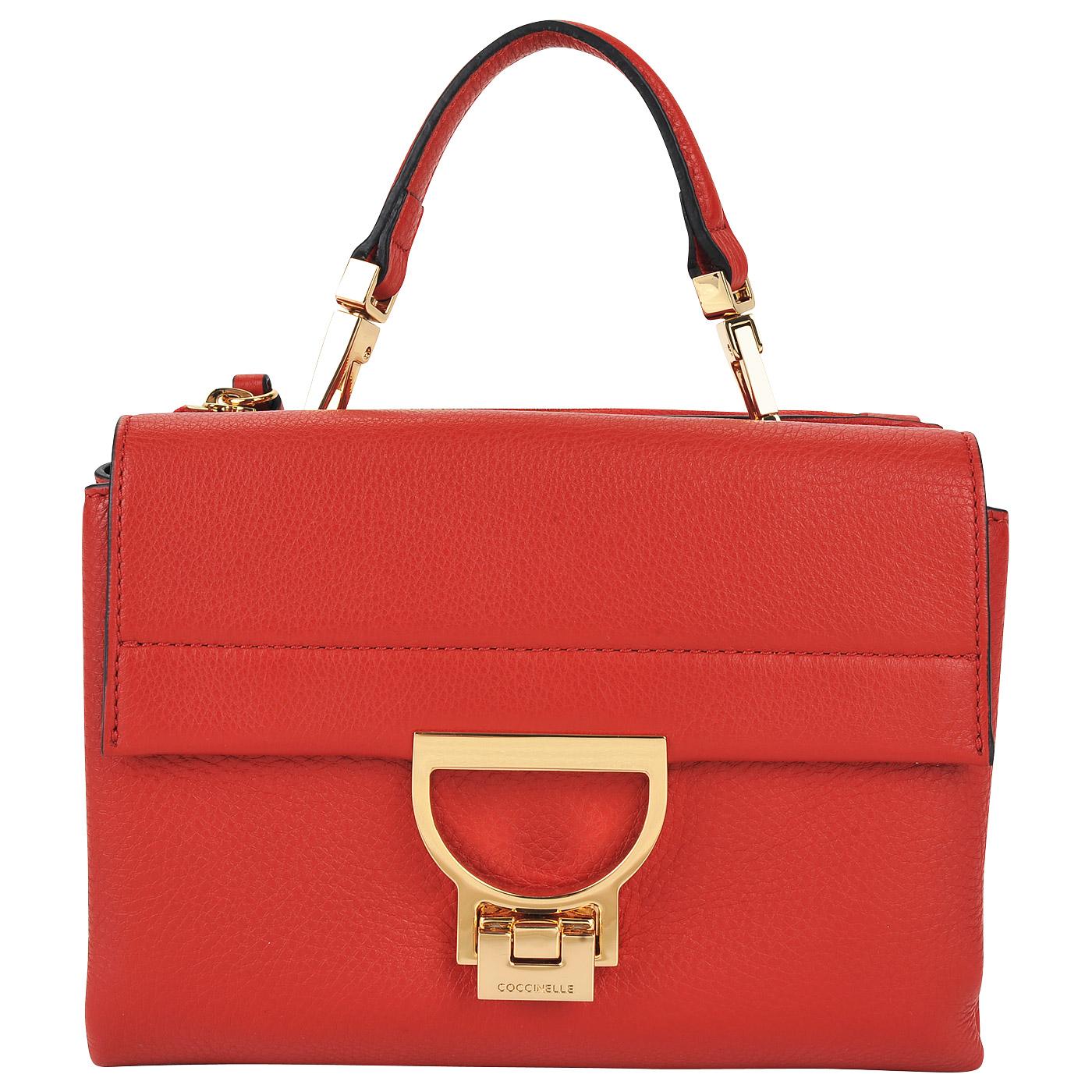 88f34df85ae1 Маленькая кожаная сумка с двумя отделами Coccinelle Arlettis BD5 55 ...