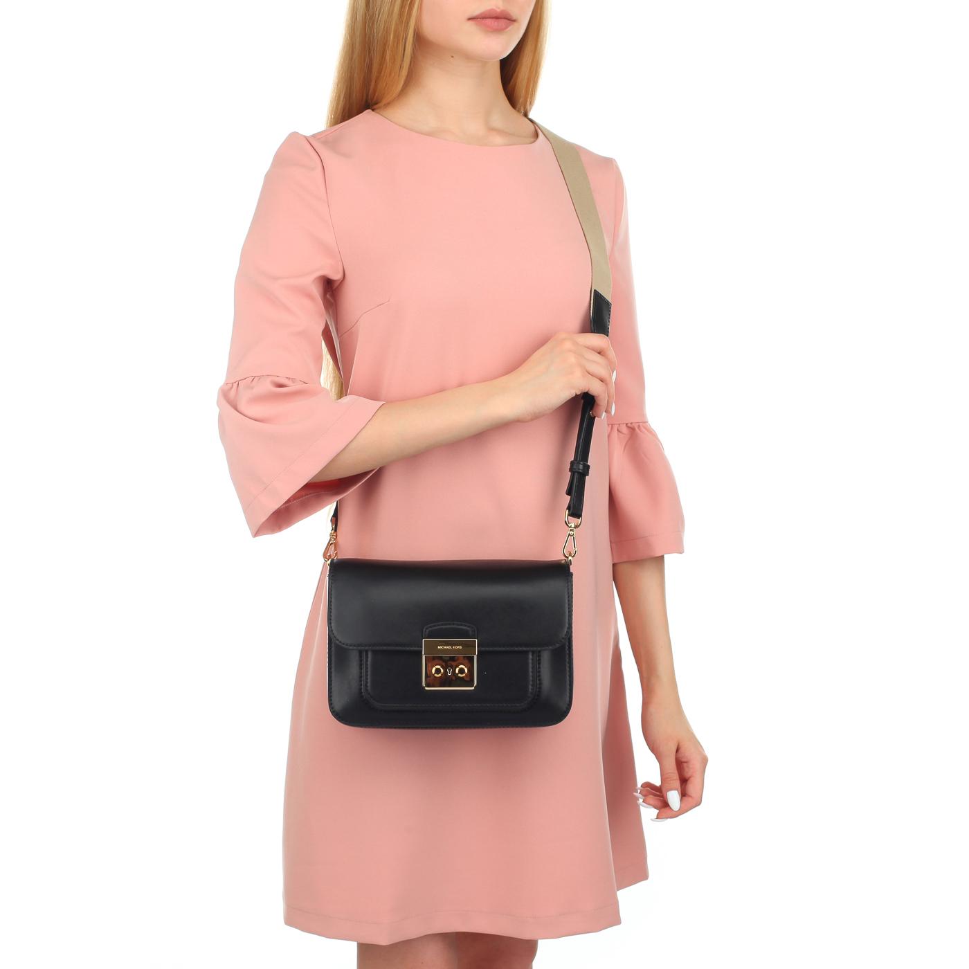 84707a75a389 ... Женская сумочка с двумя ремешками Michael Kors Sloan Editor ...