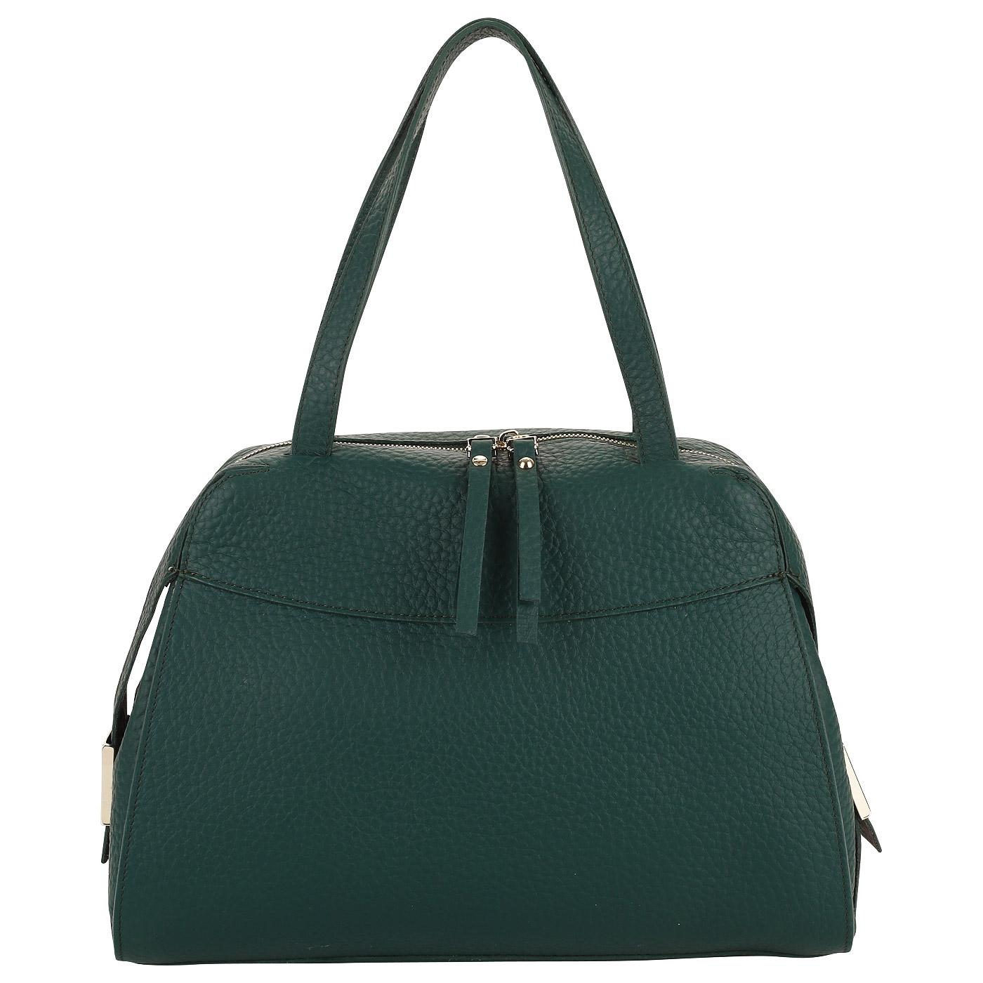 60c41dfd Кожаная сумка с длинными ручками Gilda Tonelli King Eco 0799_verde ...