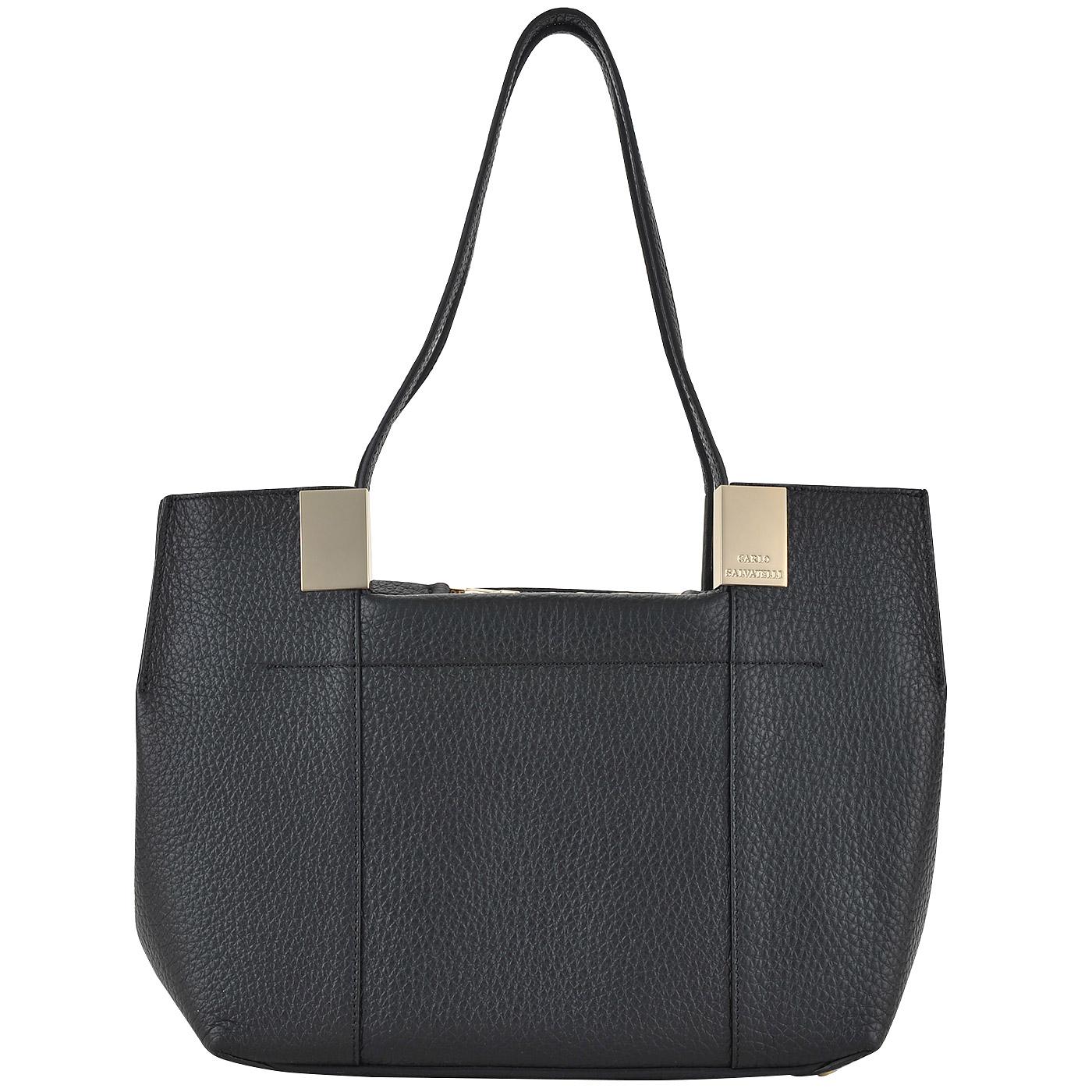 363714ec79f6 ... Черная женская сумка из натуральной кожи Carlo Salvatelli Barone ...