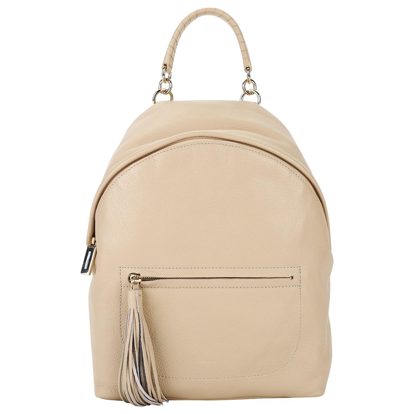 6c093f2d614c ... Женский кожаный рюкзак с регулируемыми лямками Coccinelle Leonie ...