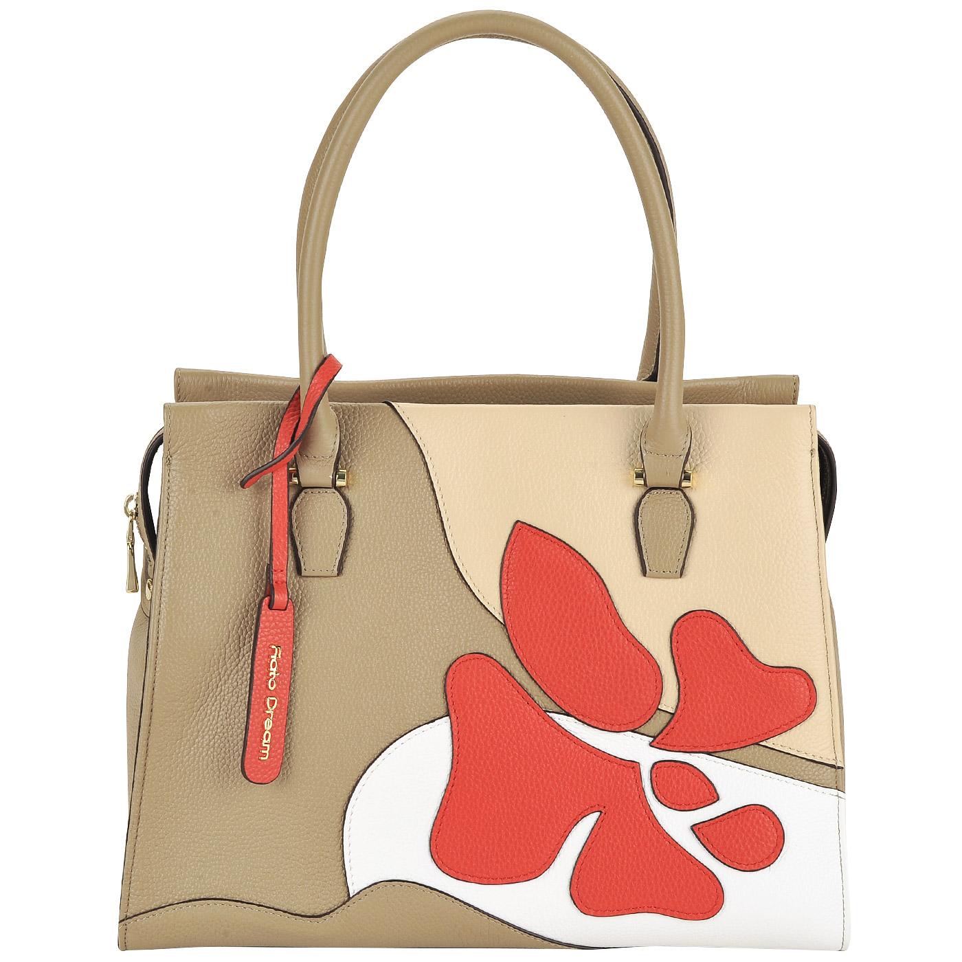 0bf1a4702968 Кожаная сумка с принтом Fiato Dream Кожаная сумка с принтом Fiato Dream ...