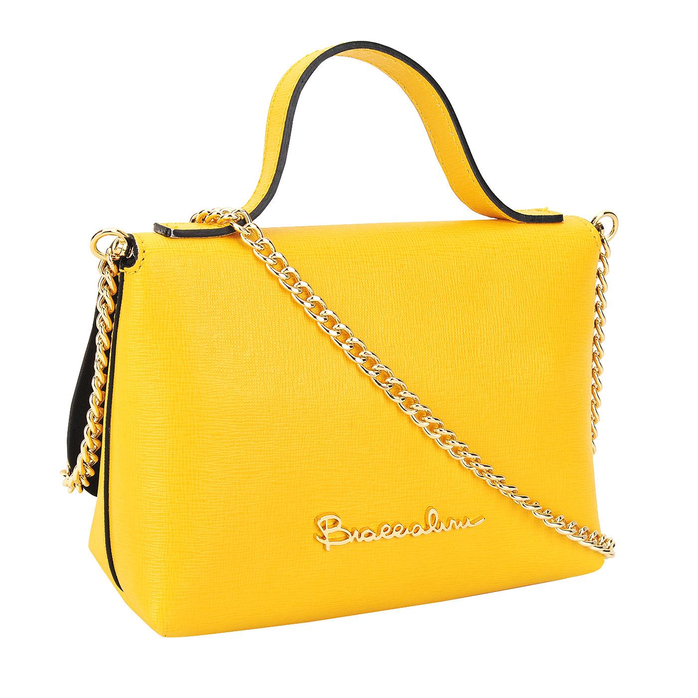 9abc42b08e68 Женская кожаная сумка Braccialini Ninfea B10691_giallo ...