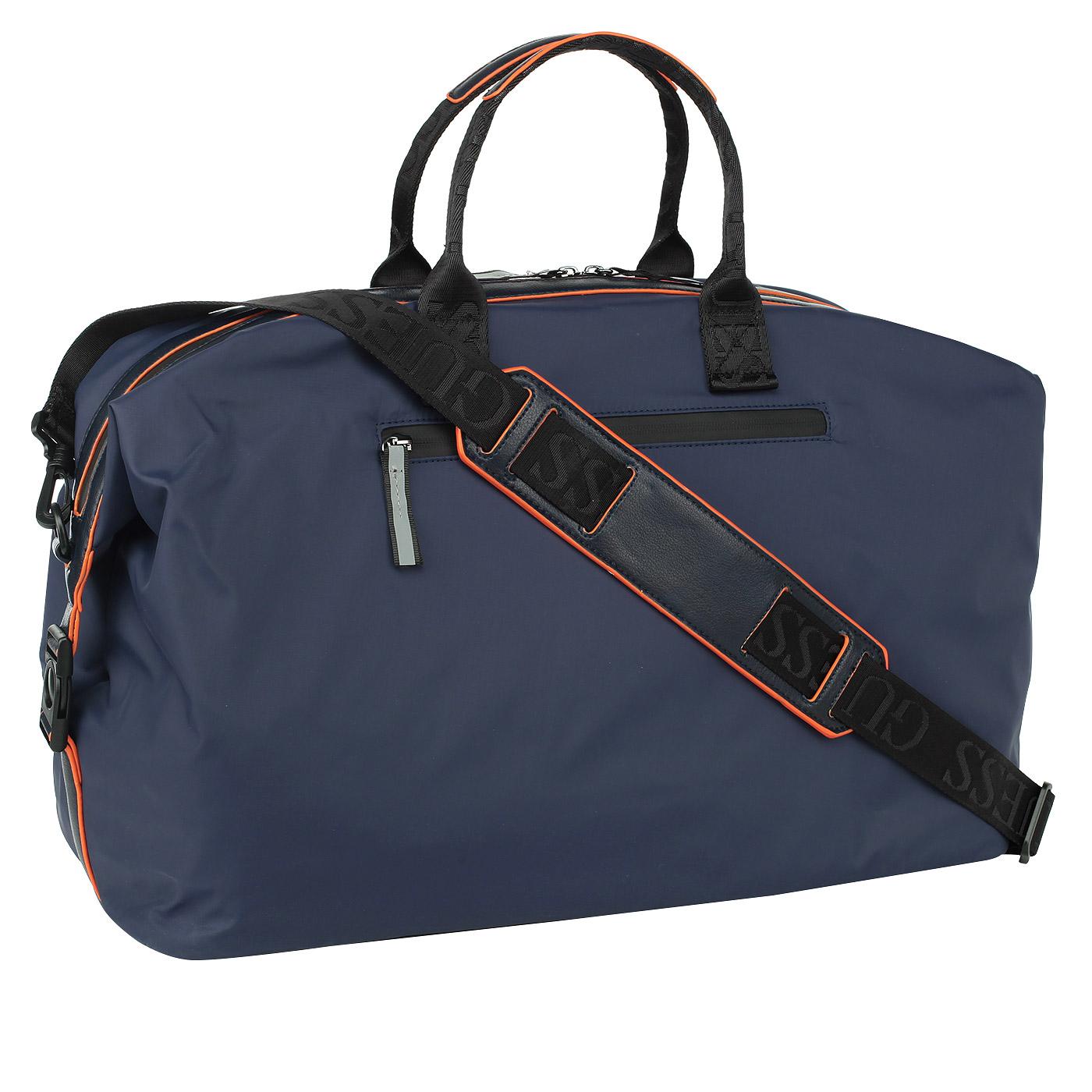 5920fbce6349 Мужская дорожная сумка с плечевым ремнем Guess TM6117 NYL73 blue ...