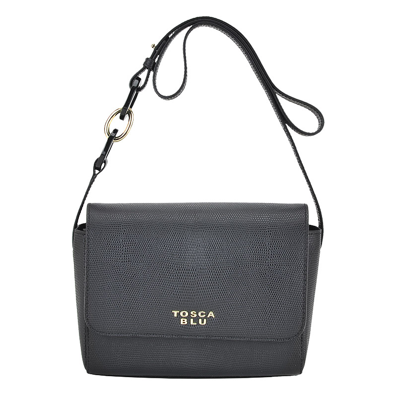 6ab047d22d9e Женская кожаная сумка через плечо Tosca Blu Tahiti 151B215_black ...