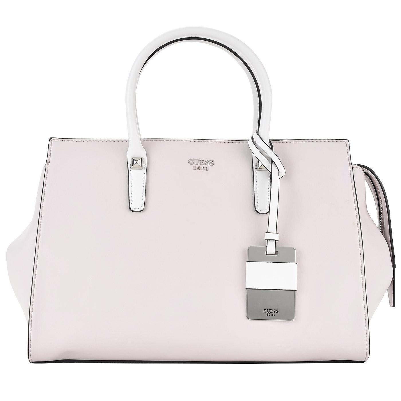Вместительная женская сумка светло-розового цвета Guess Loree HWVG64 ... d82d414fd4b