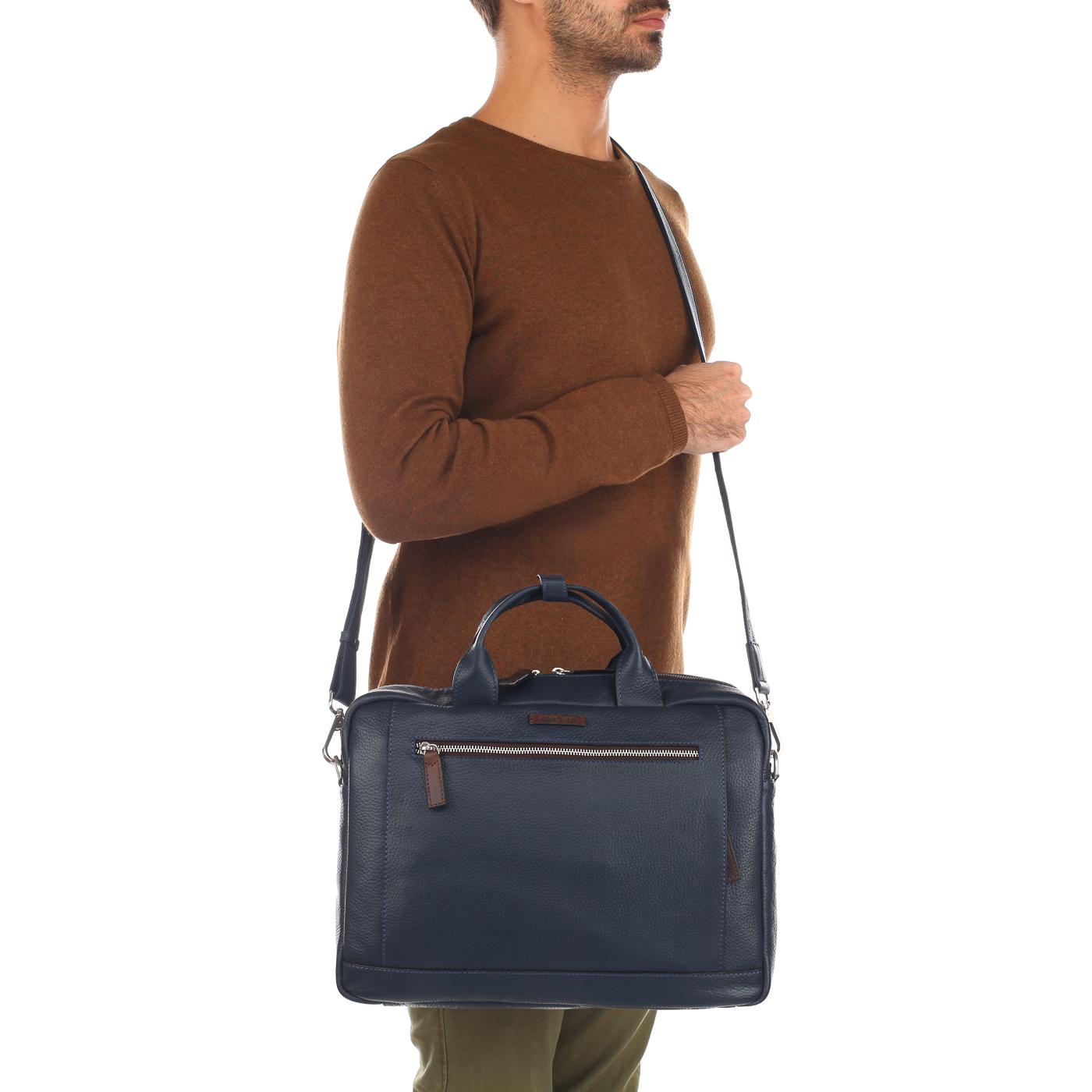 b76ca5d62f34 ... Мужская кожаная деловая сумка с отделением для ноутбука Cerruti 1881  Monaco ...