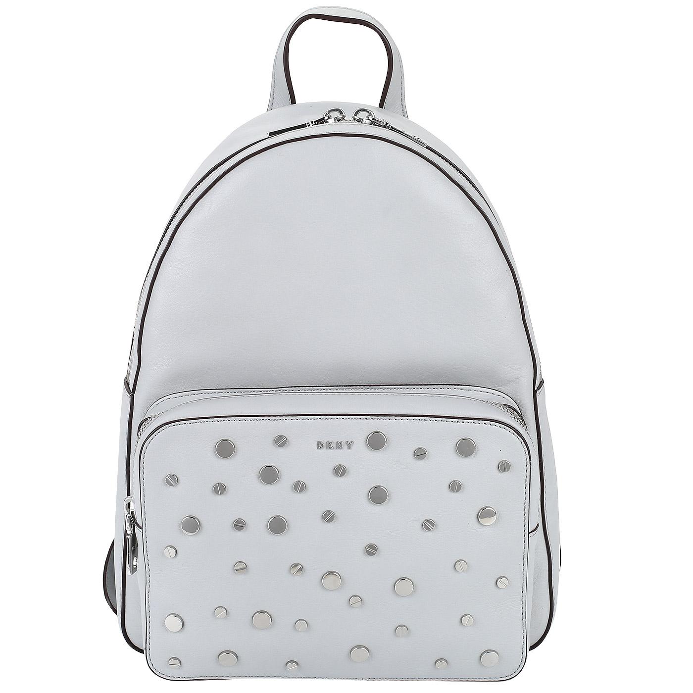 797a7f149b85 Кожаный рюкзак с клепками DKNY Bari Кожаный рюкзак с клепками DKNY Bari ...