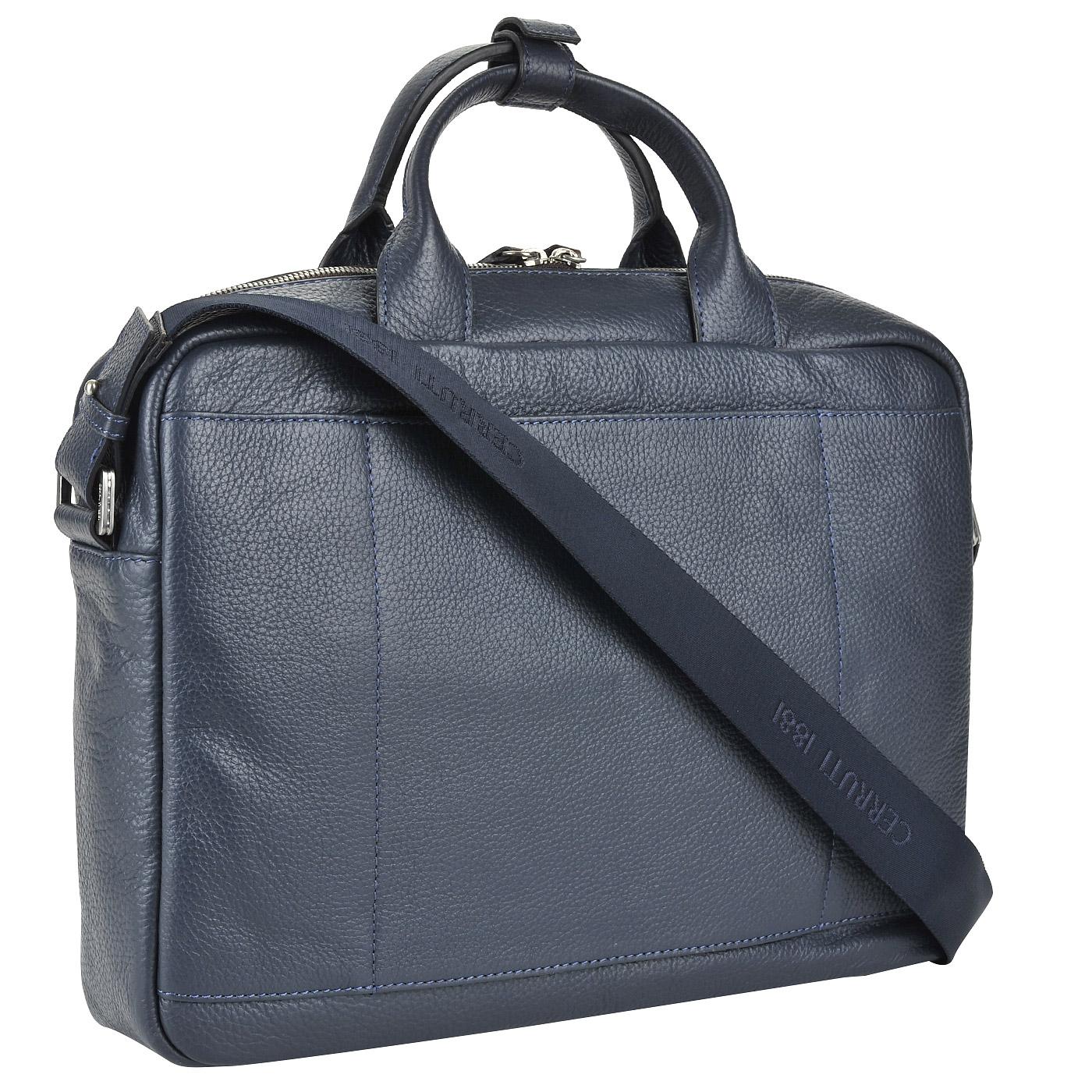 01bbde8c67b5 Мужская кожаная деловая сумка с отделением для ноутбука Cerruti 1881 Monaco  ...