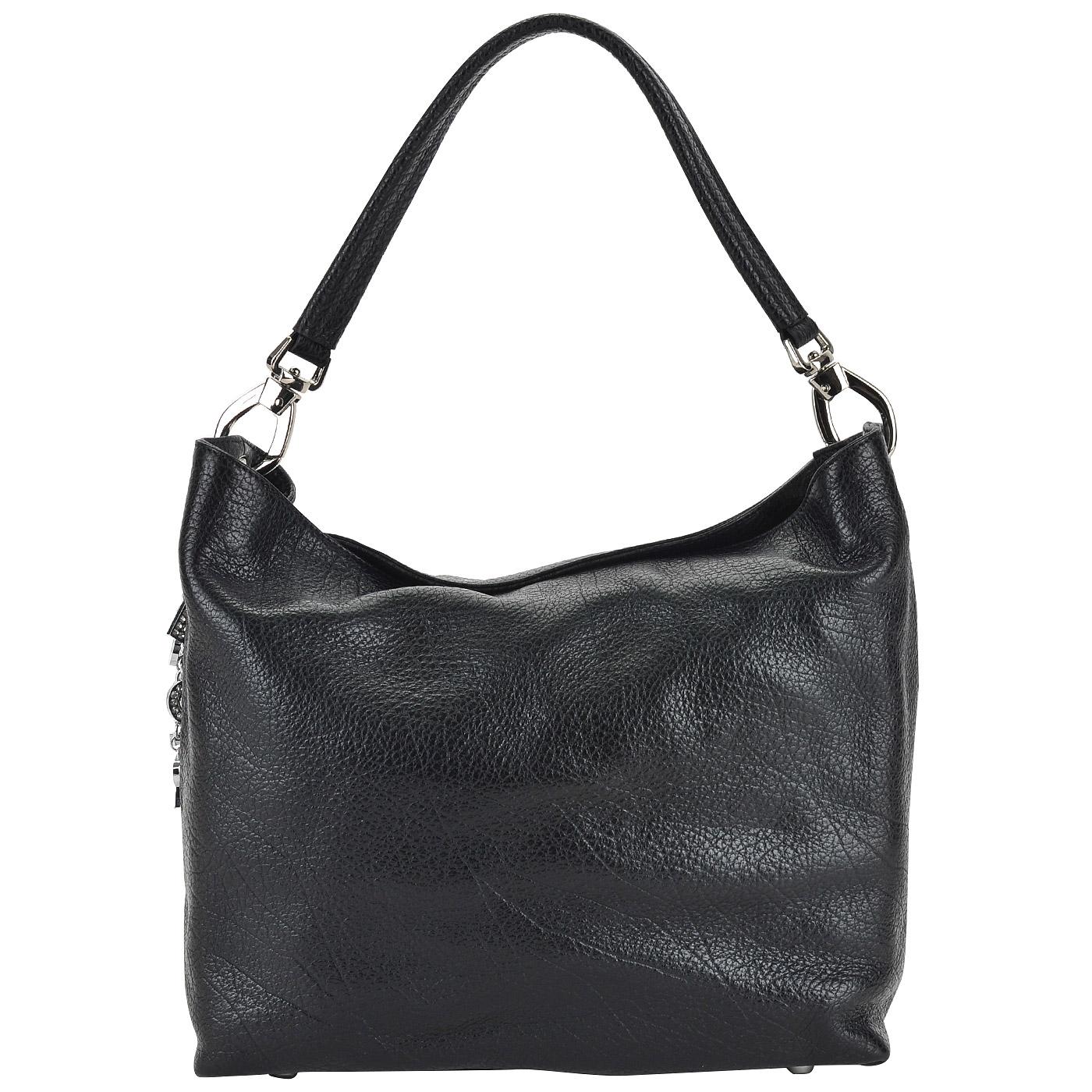 6d606c8c9ab5 ... Женская черная сумка из натуральной кожи Sara Burglar Ariel baby ...