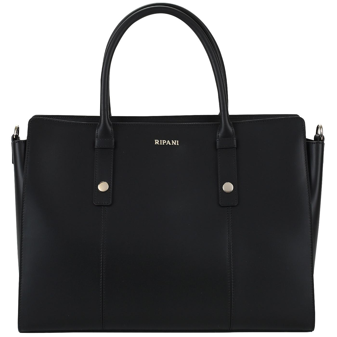 b277e6912407 Деловая сумка из черной кожи Ripani Business 9691HH_00003 ...
