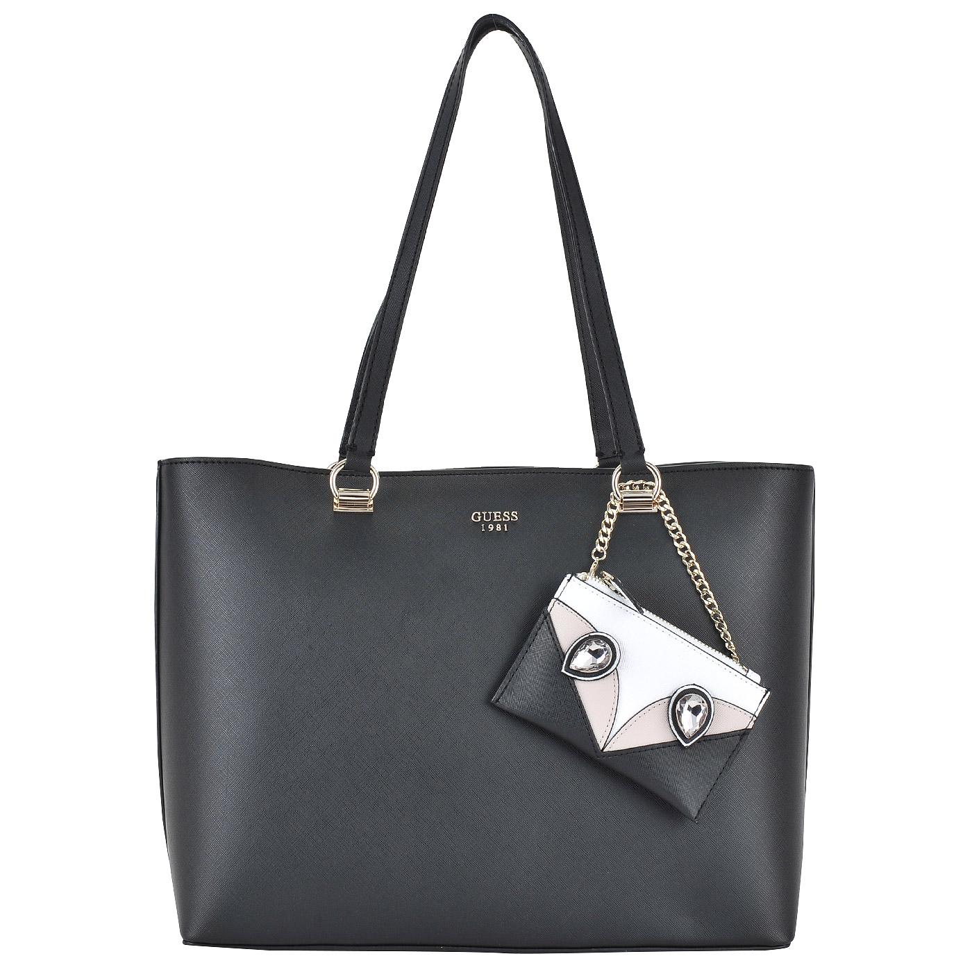 307576e0bfe1 Вместительная женская сумка с длинными ручками Guess Kizzy HWVG64 ...