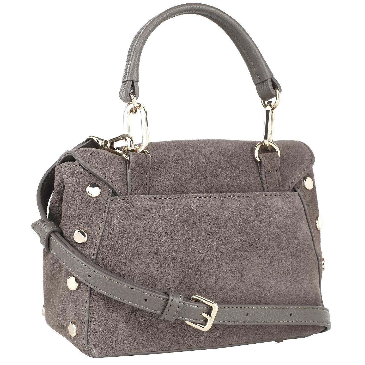 5f1d3cbe18b0 Маленькая замшевая сумочка с металлическим декором DKNY Suede ...