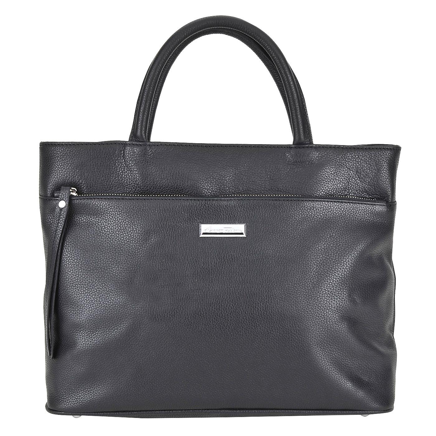 Сумка Azaro  3004 черный натуральная кожа 35 x 26 купить в интернет-магазине